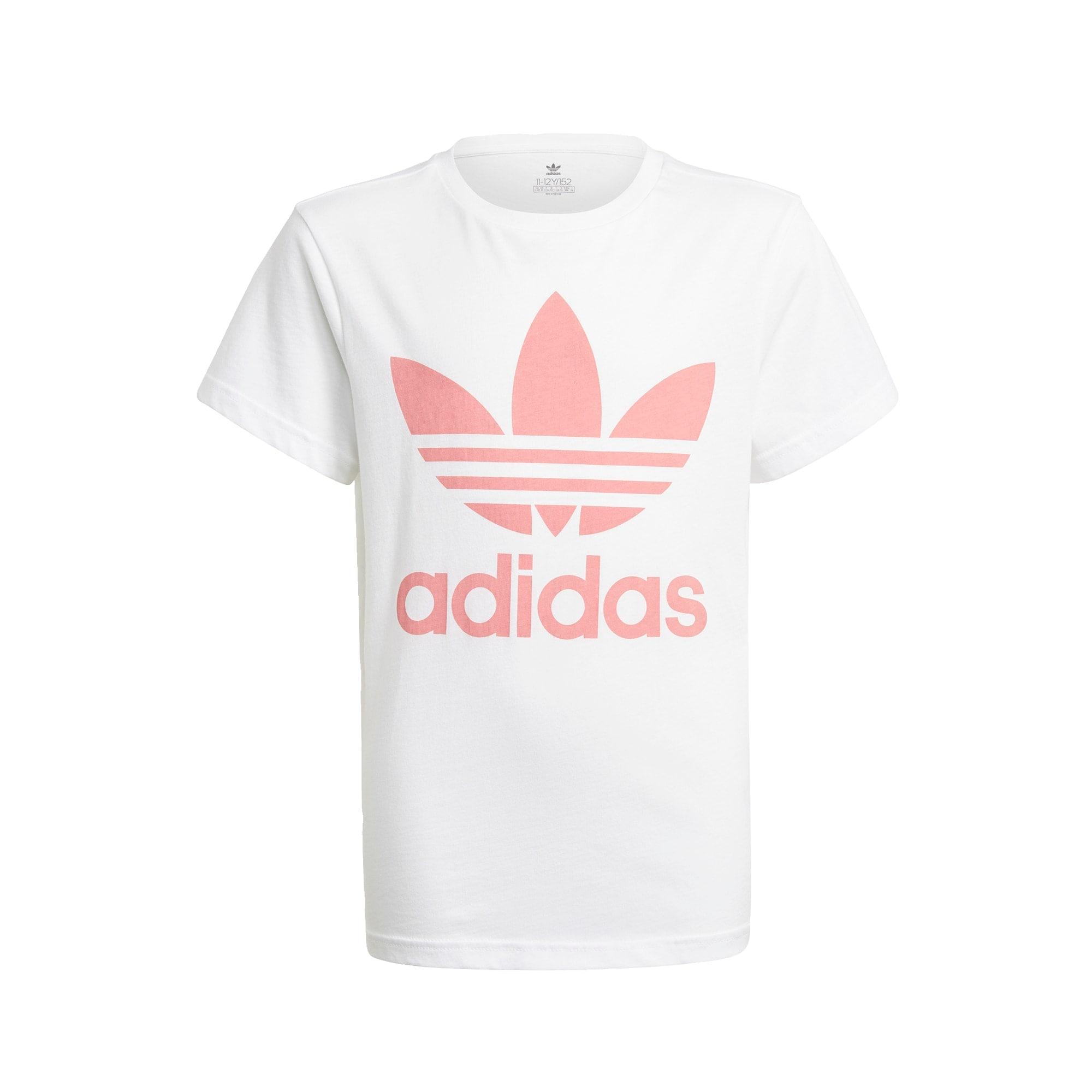 ADIDAS ORIGINALS Marškinėliai balta / rožių spalva