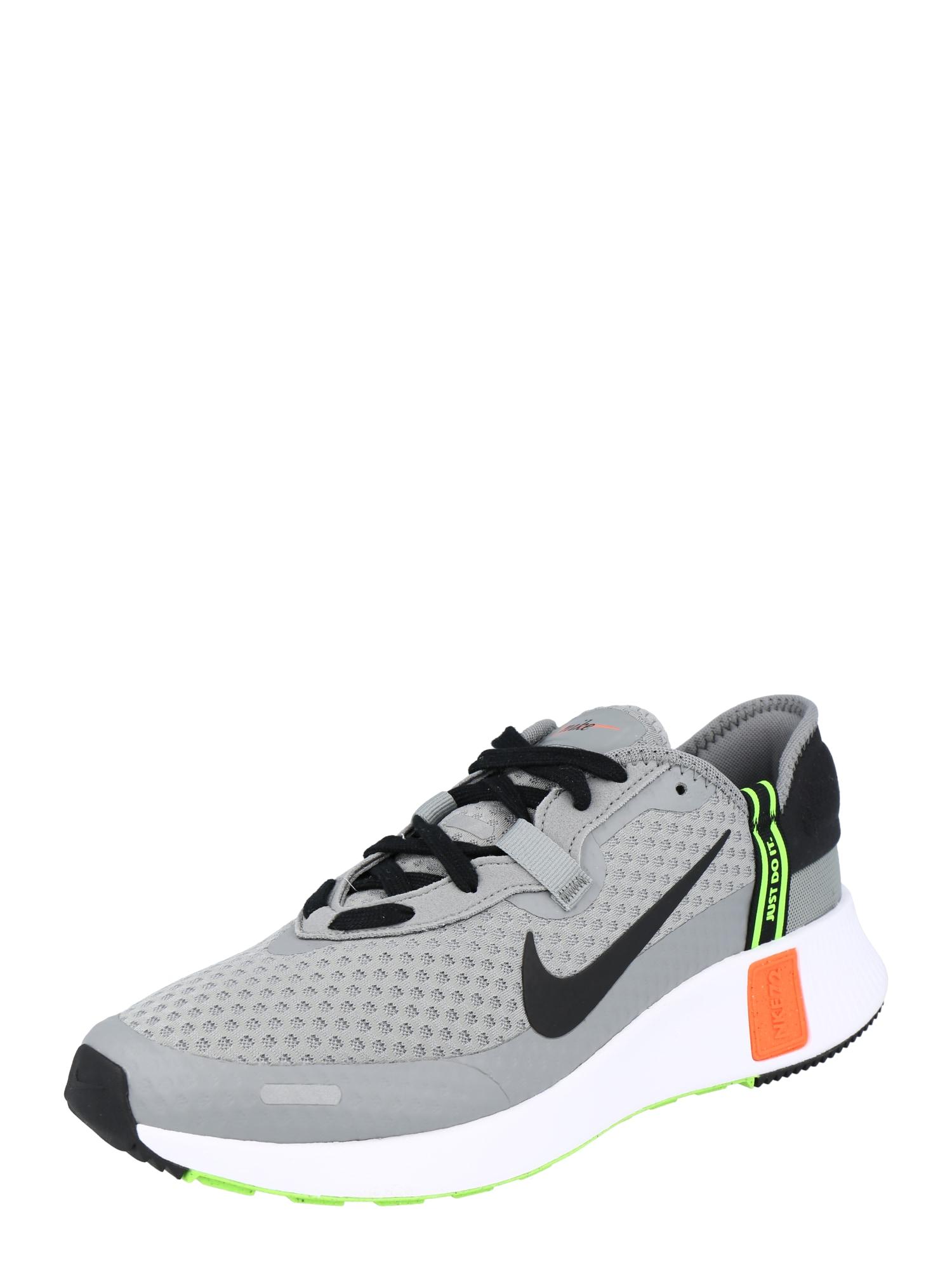 Nike Sportswear Nízke tenisky 'Reposto'  sivá / čierna / neónovo zelená / oranžová