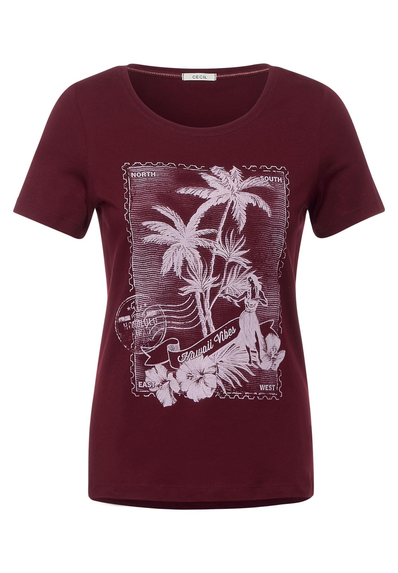 CECIL Marškinėliai burgundiško vyno spalva / rožių spalva