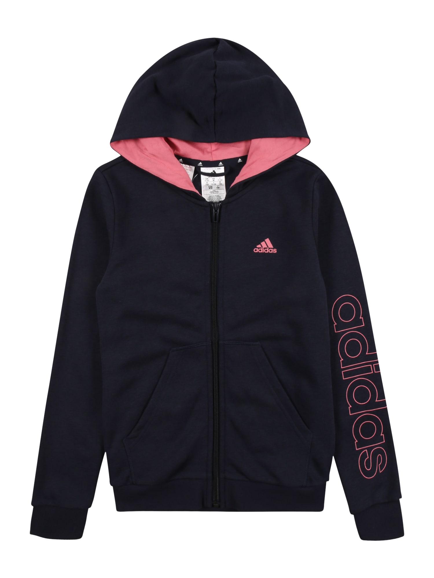 ADIDAS PERFORMANCE Sportinis džemperis juoda / šviesiai rožinė