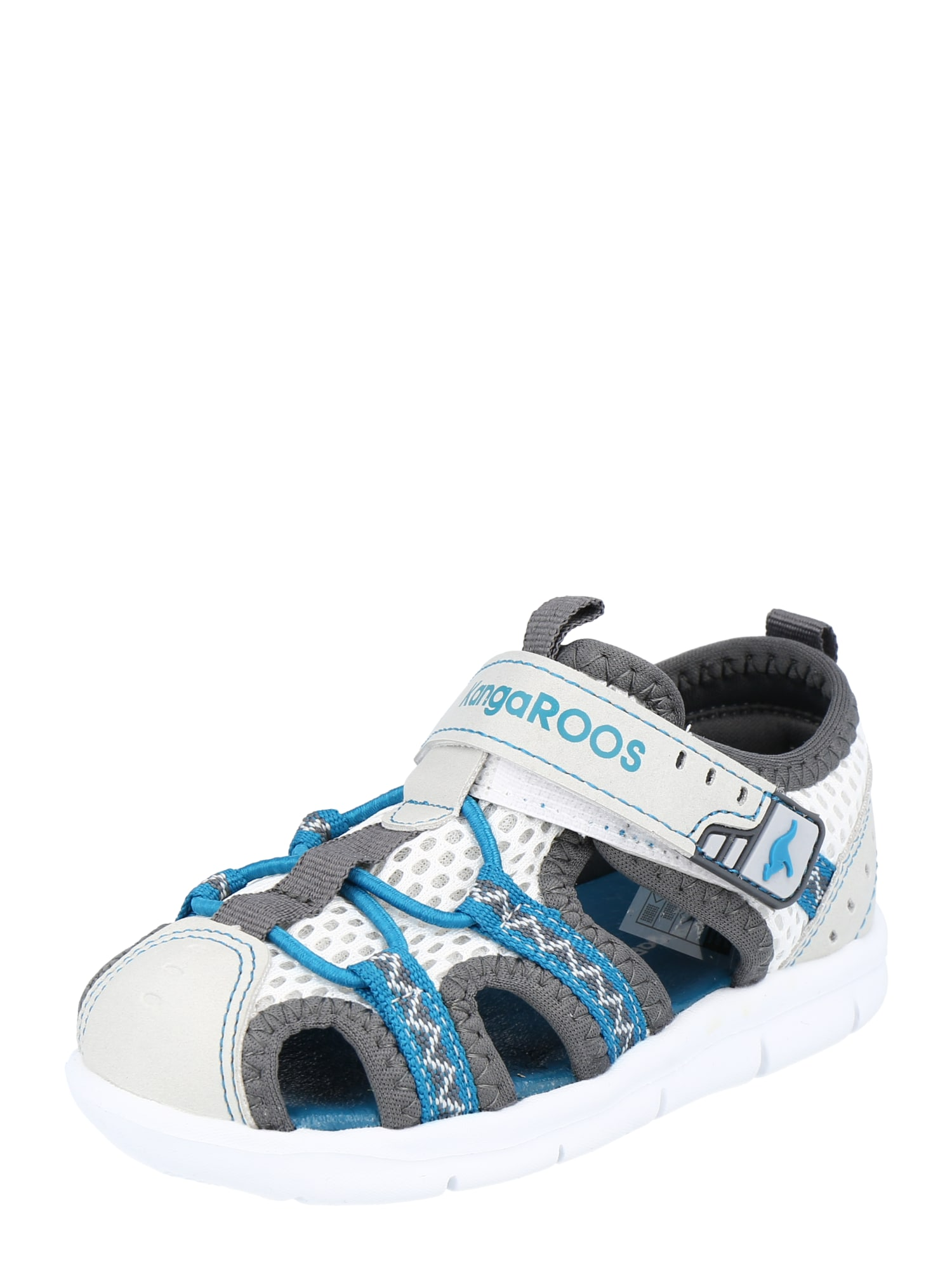 KangaROOS Atviri batai pilka / balta / turkio spalva