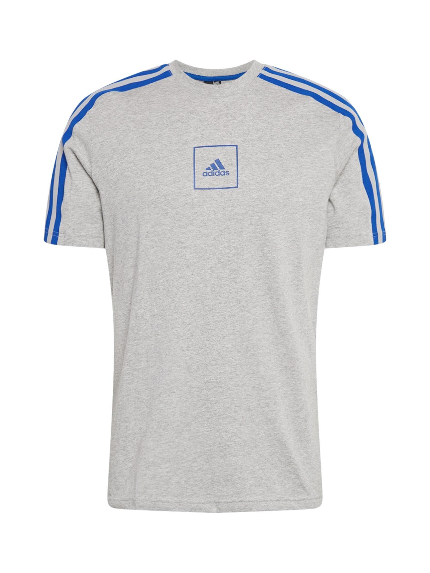ADIDAS PERFORMANCE Funkční tričko  modrá / světle šedá