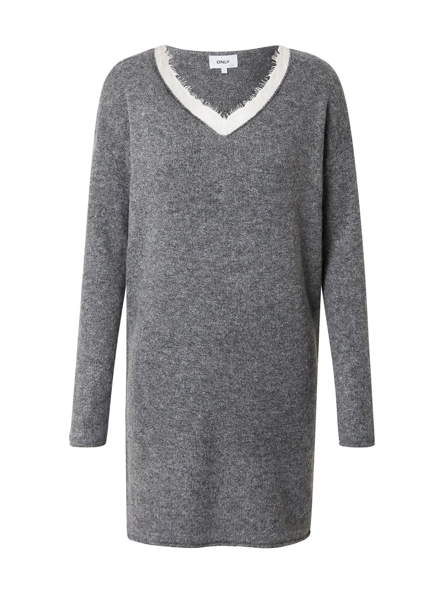 ONLY Úpletové šaty 'Liana'  šedá