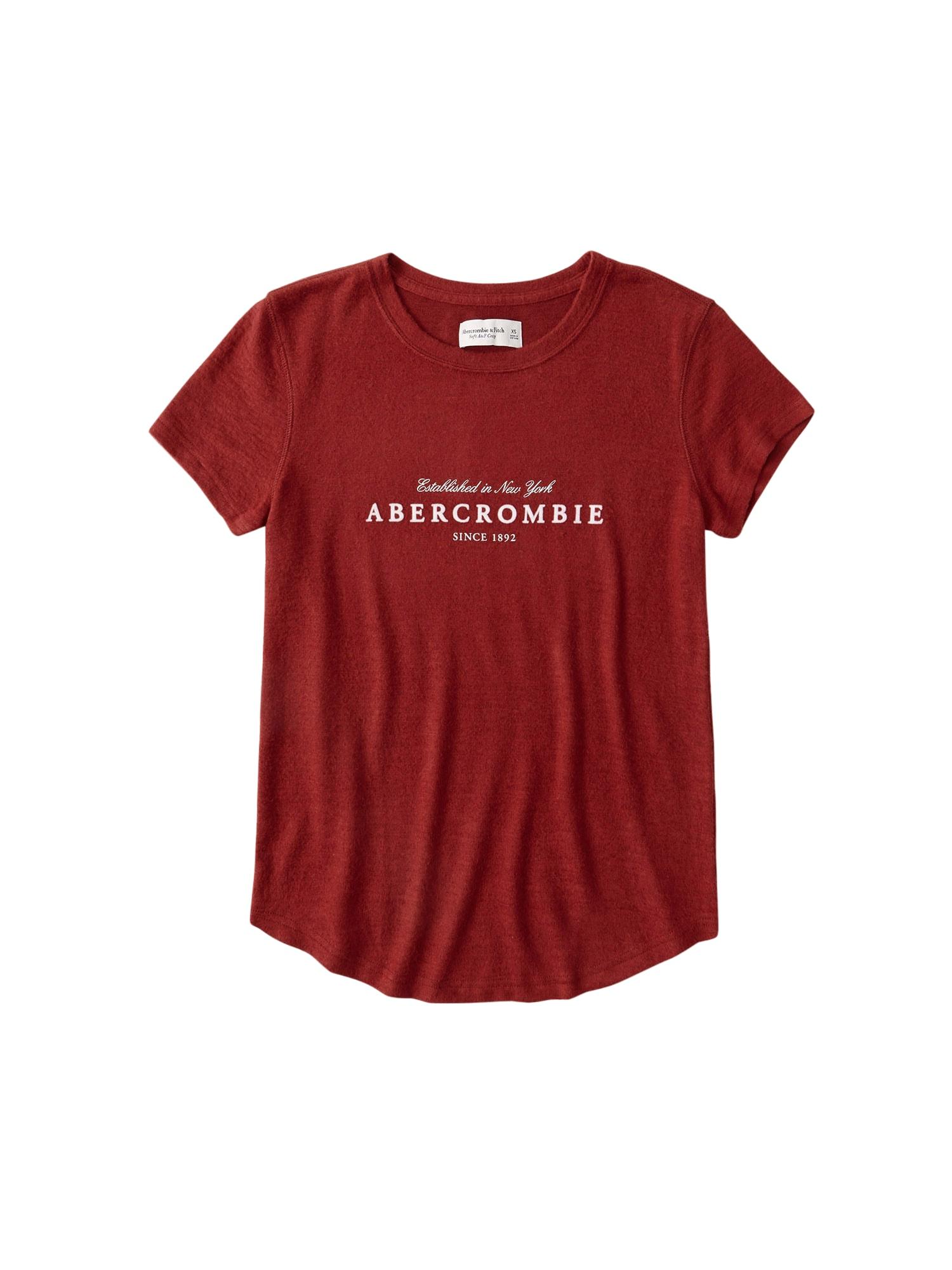 Abercrombie & Fitch Marškinėliai raudona / balta