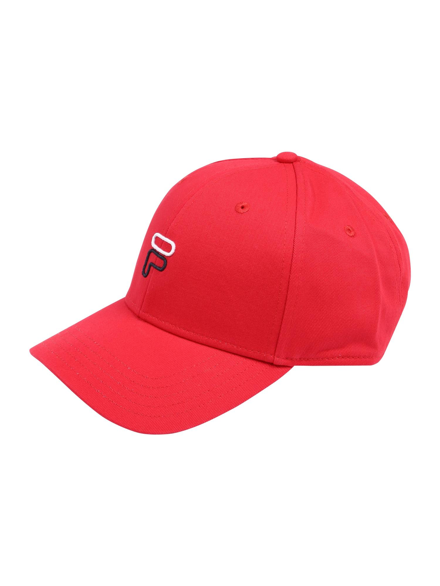 FILA Sportinė kepurė raudona / balta / tamsiai mėlyna