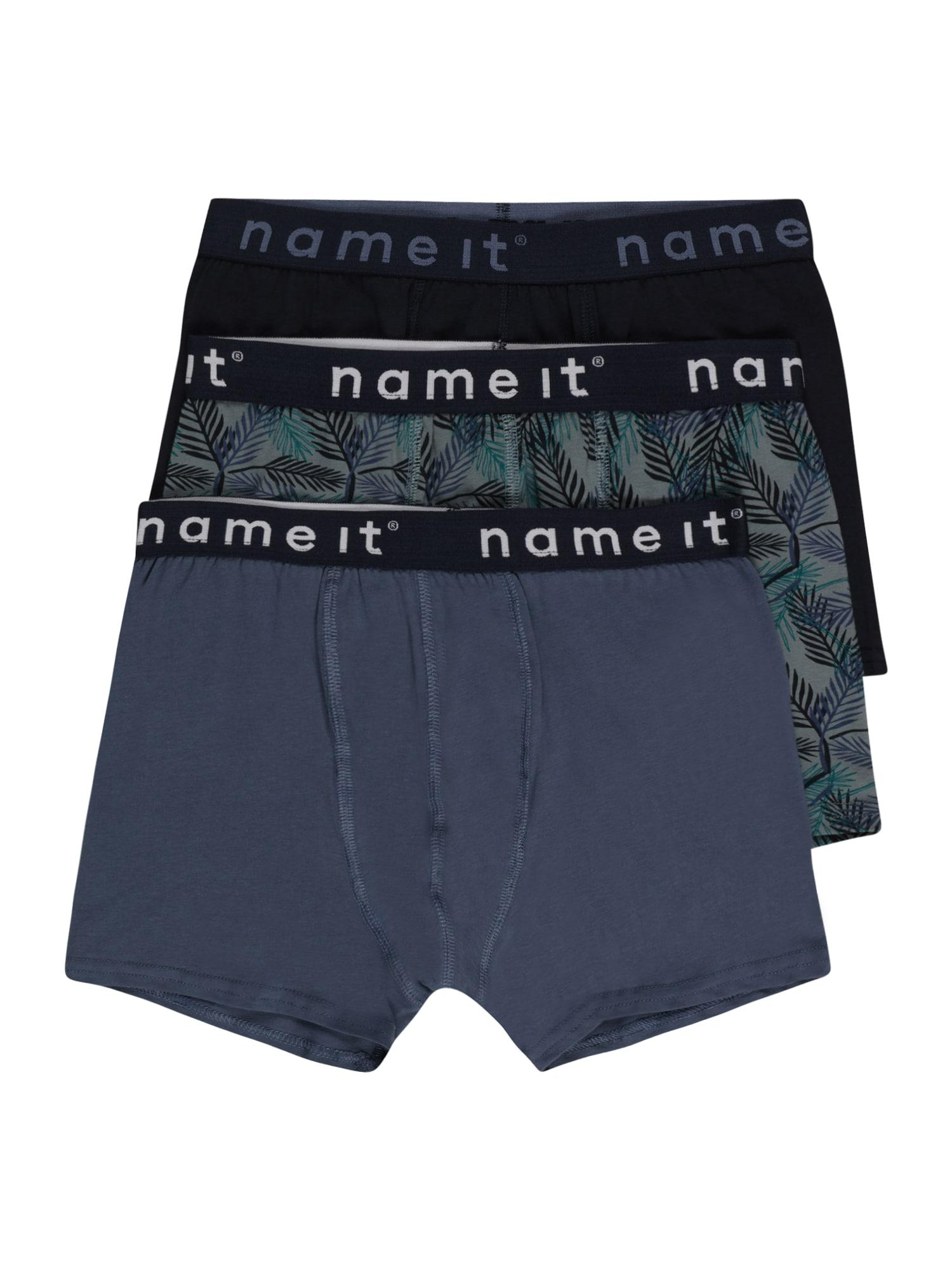 NAME IT Apatinės kelnaitės tamsiai pilka / akmens / juoda / balta / smaragdinė spalva