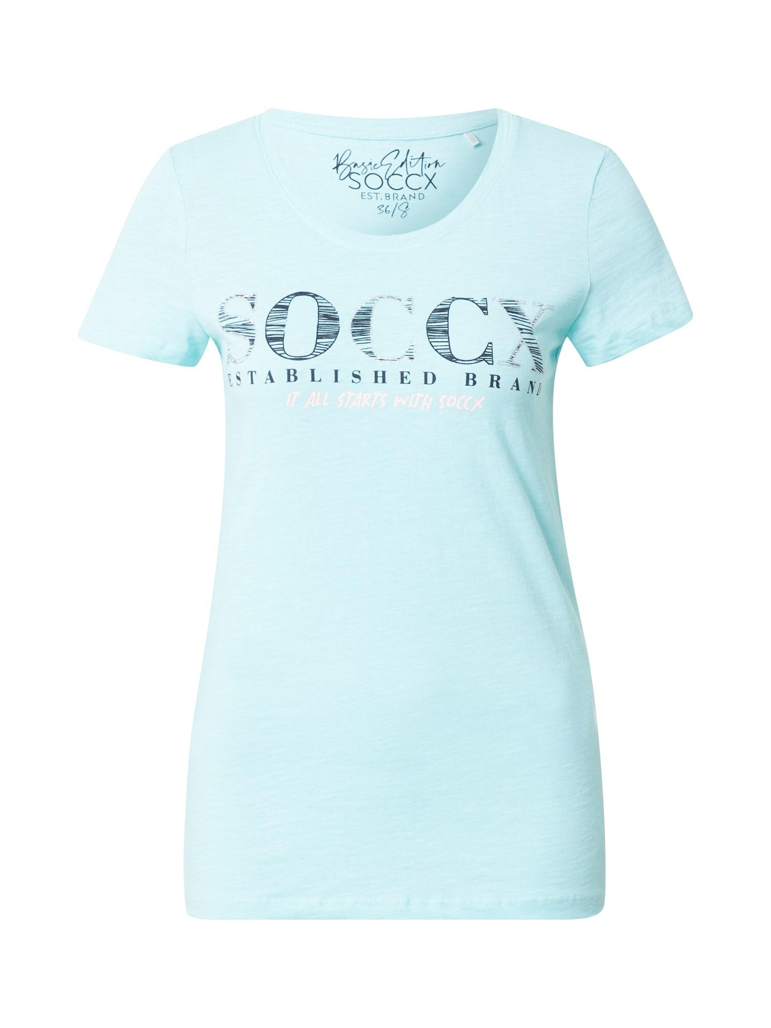 Soccx Marškinėliai šviesiai mėlyna