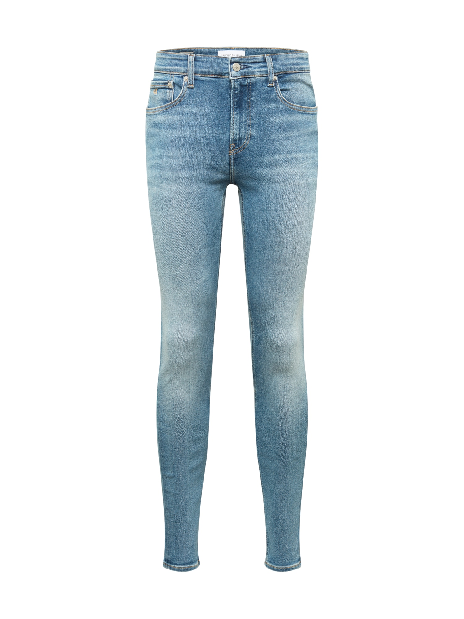 Calvin Klein Jeans Džinsai tamsiai (džinso) mėlyna / gelsvai pilka spalva / balta