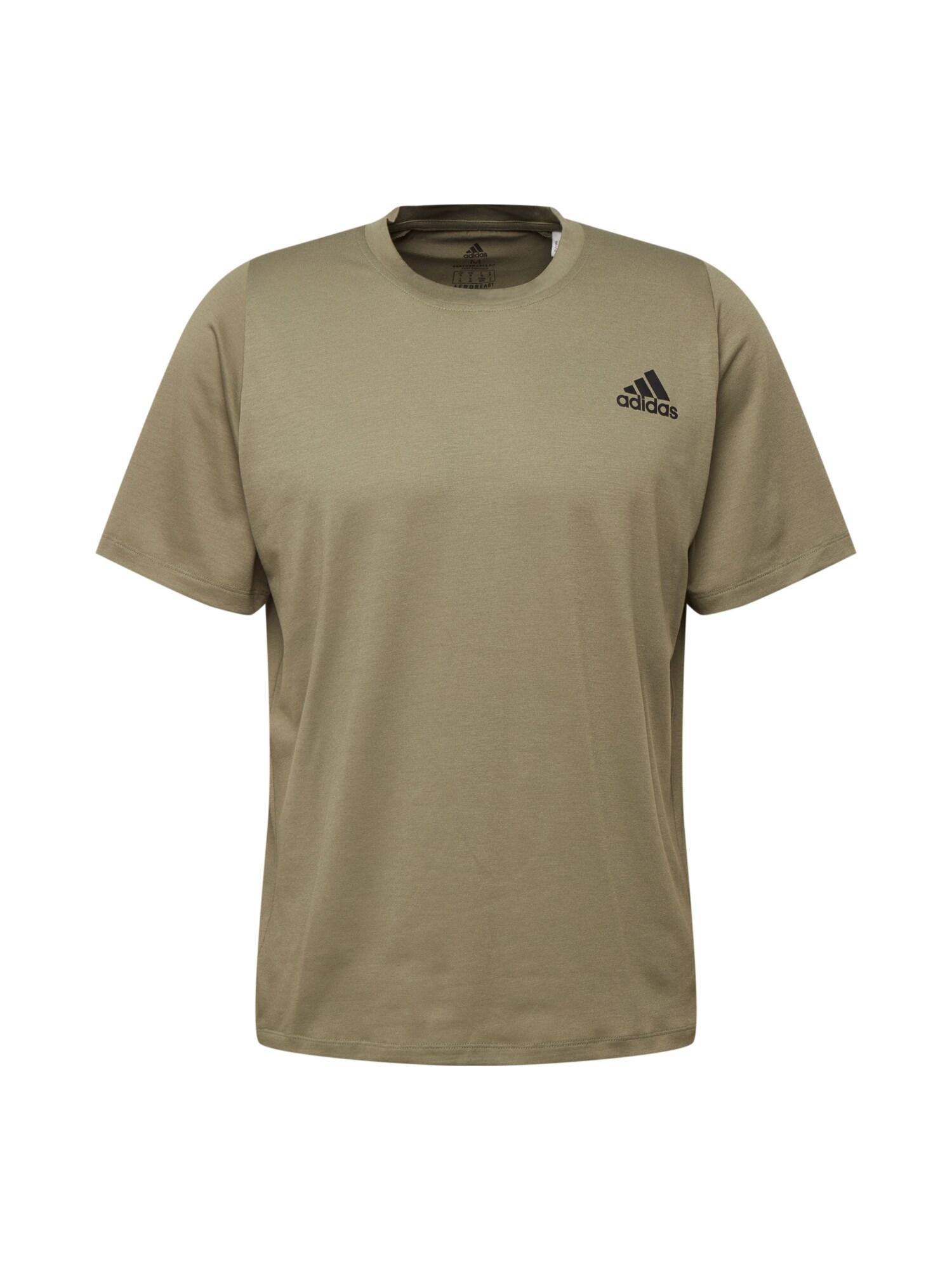 ADIDAS PERFORMANCE Funkční tričko  barvy bláta / černá