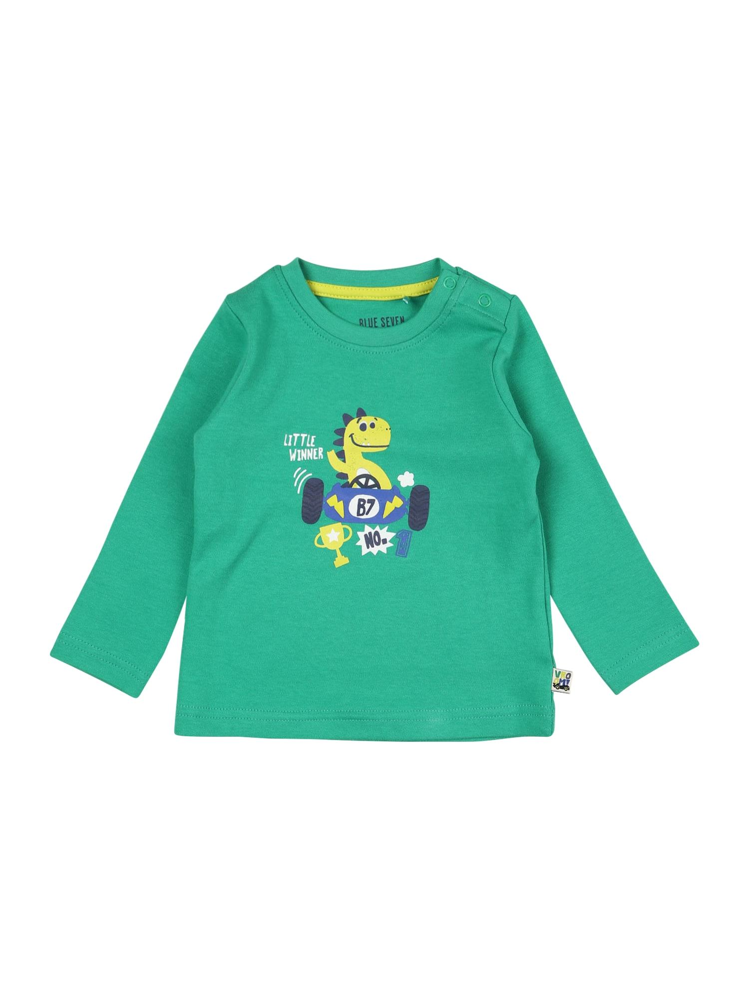 BLUE SEVEN Marškinėliai žalia / mišrios spalvos
