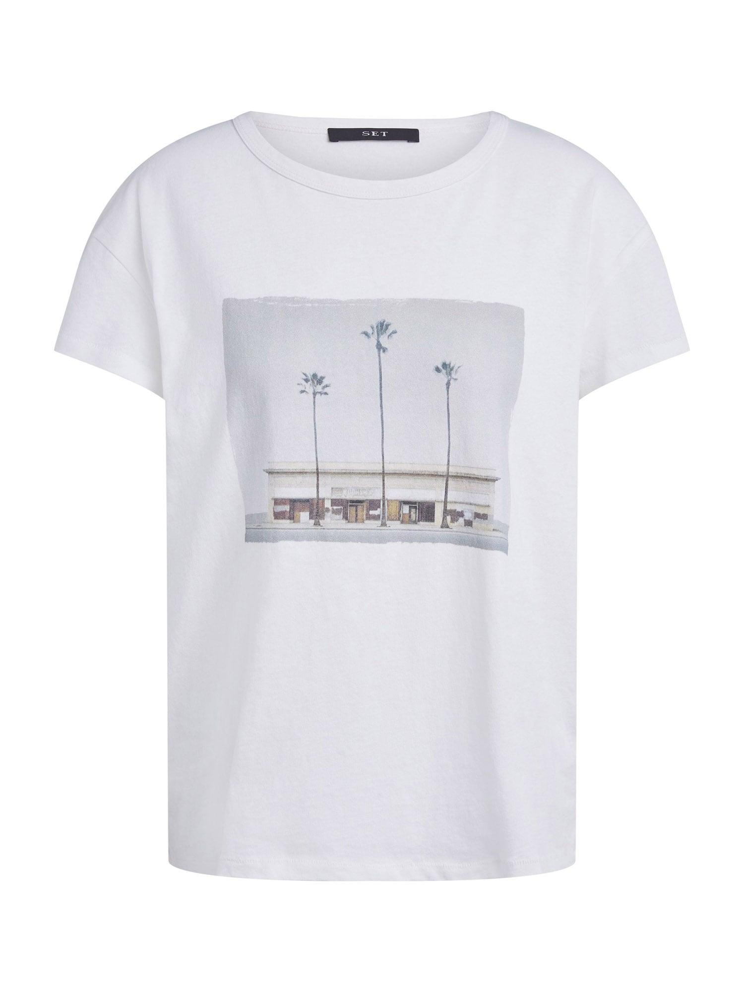SET Marškinėliai balta / juoda / pilka
