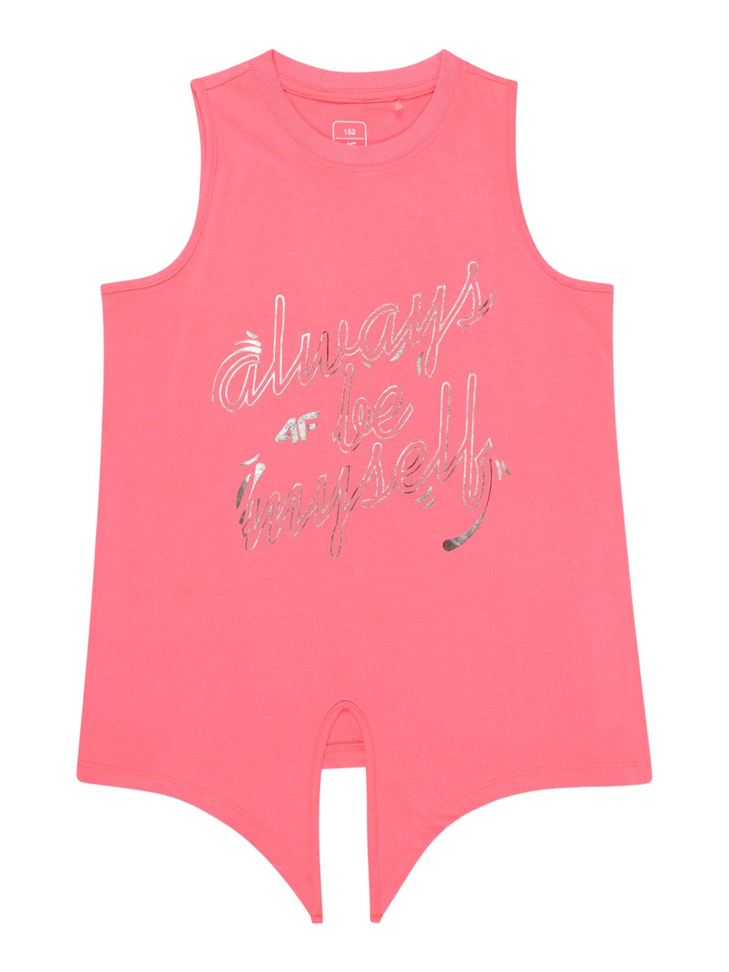 4F Sportiniai marškinėliai be rankovių koralų splava / auksas