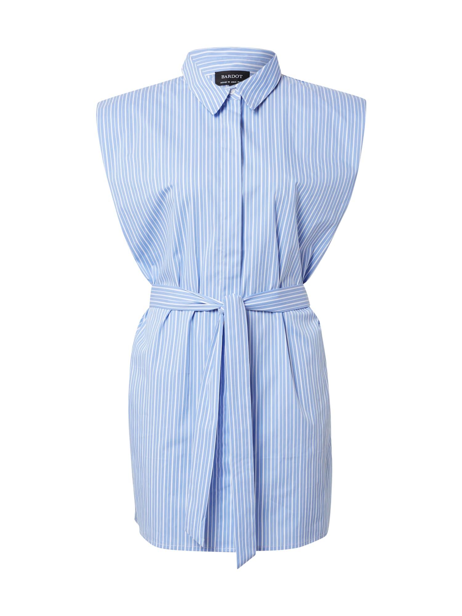 Bardot Košilové šaty  modrá / bílá