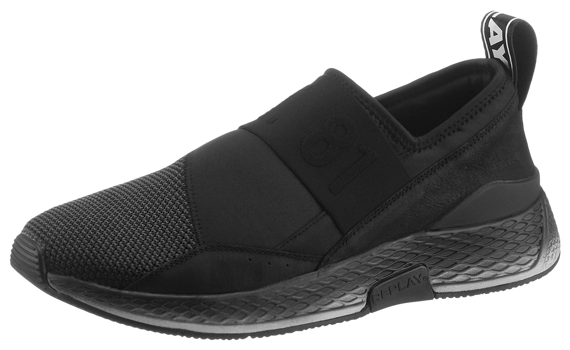 REPLAY Batai be raištelių juoda / balta