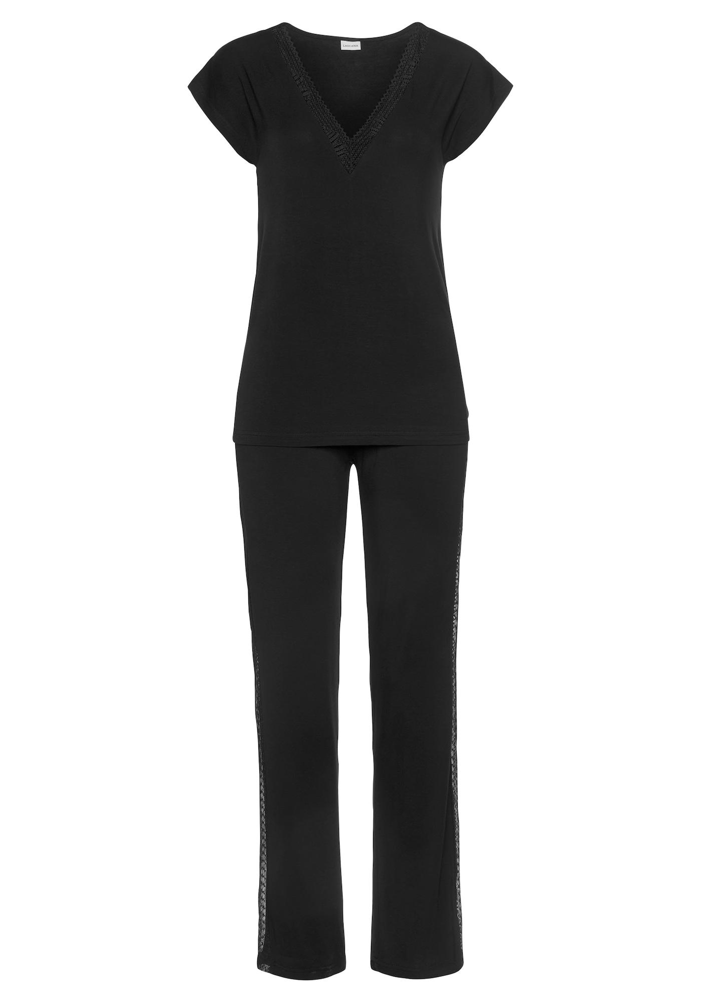 LASCANA Pyžamo  černá