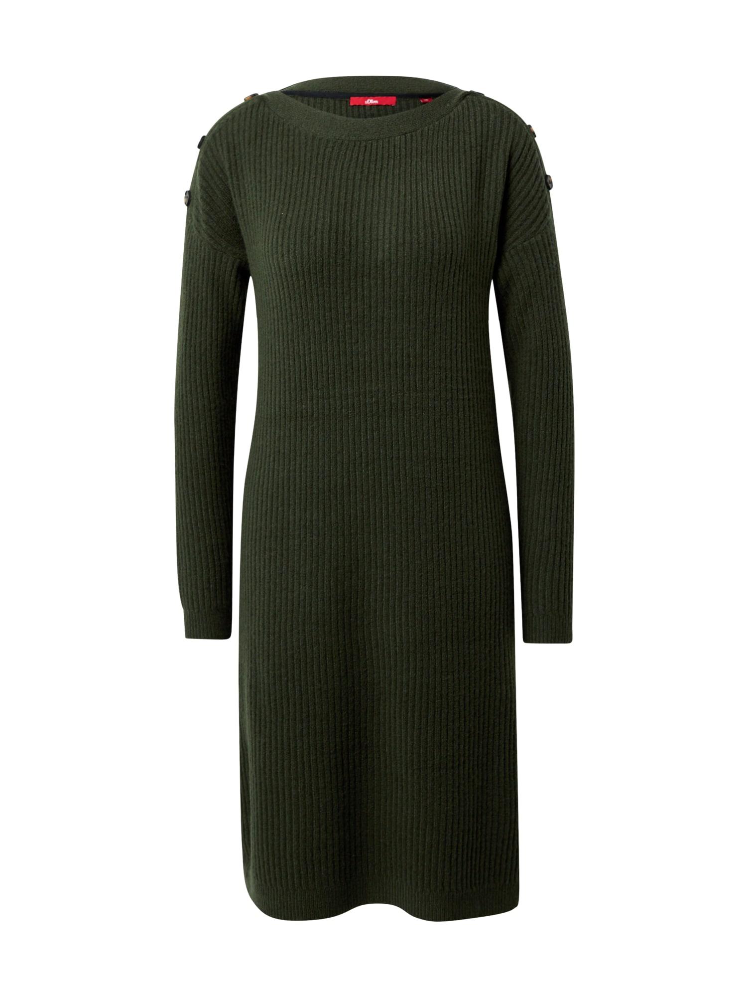 s.Oliver Úpletové šaty  zelená