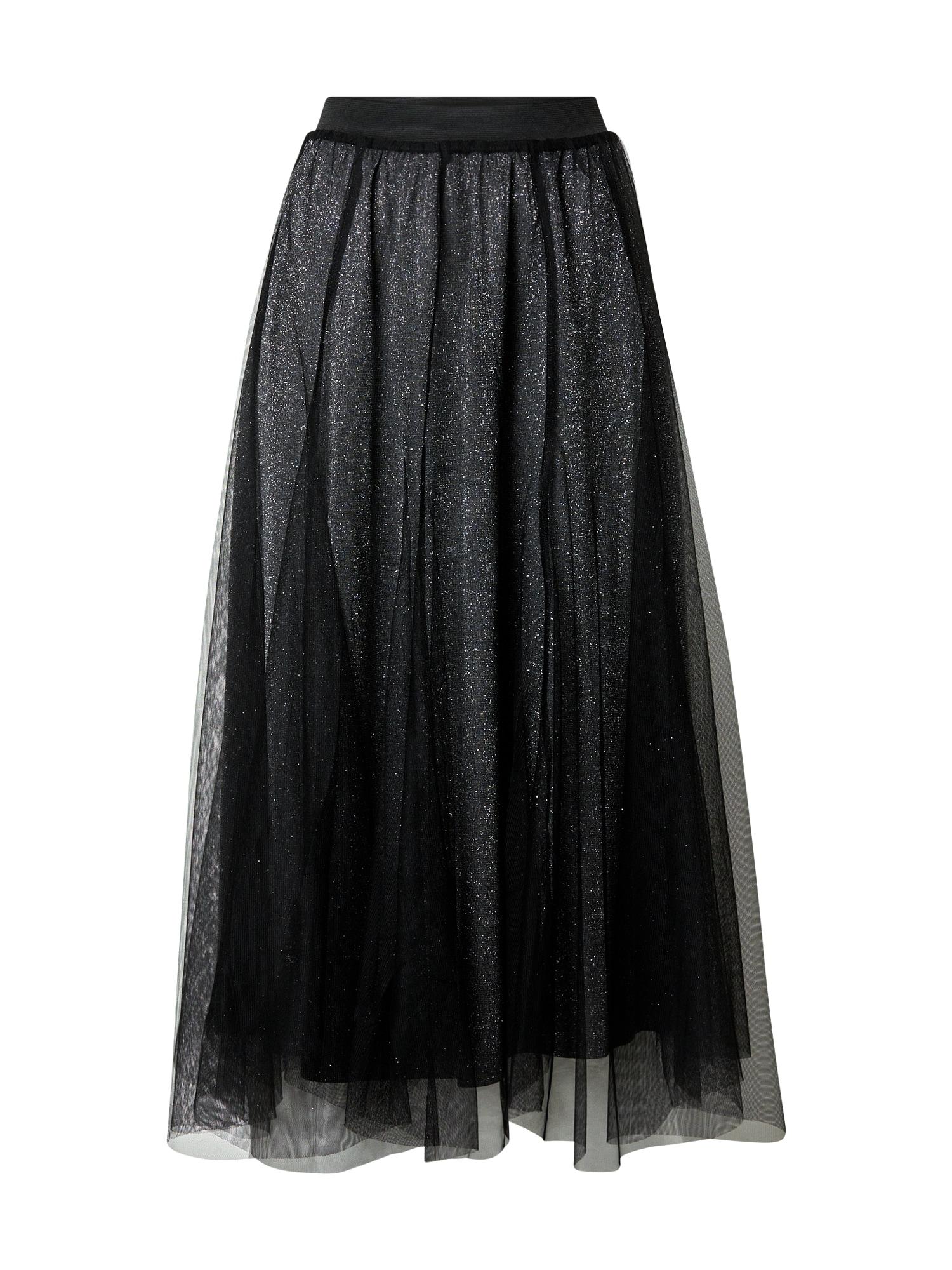JACQUELINE de YONG Sukně 'Merle'  stříbrná / černá