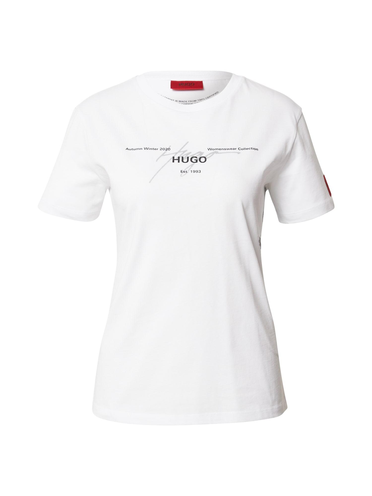 HUGO Tričko  bílá
