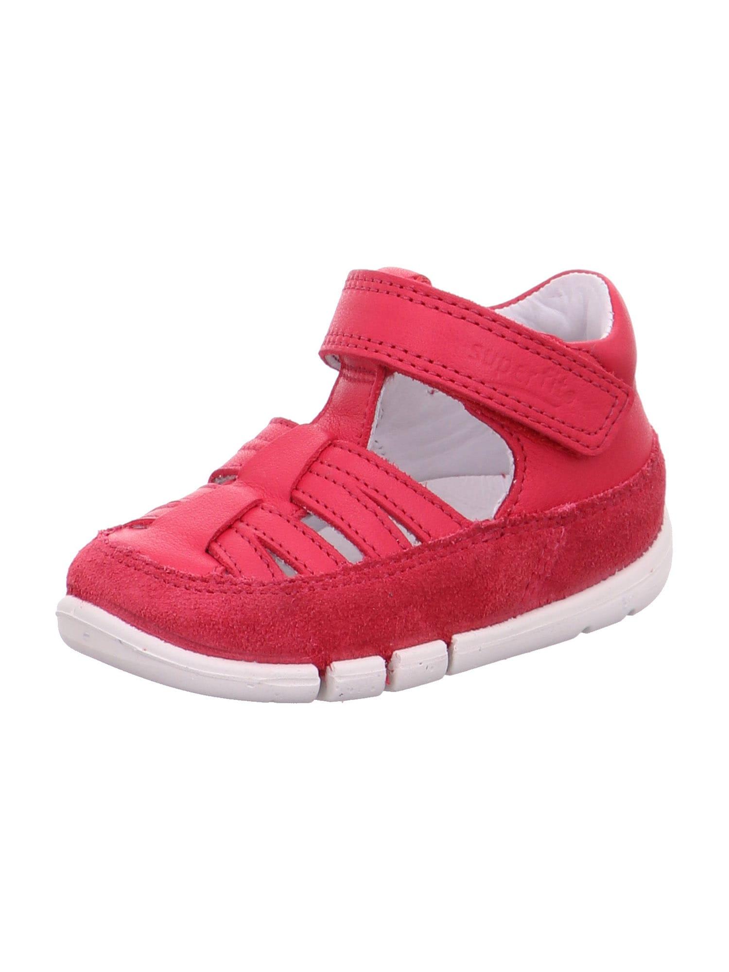 SUPERFIT Atviri batai 'FLEXY' spanguolių spalva