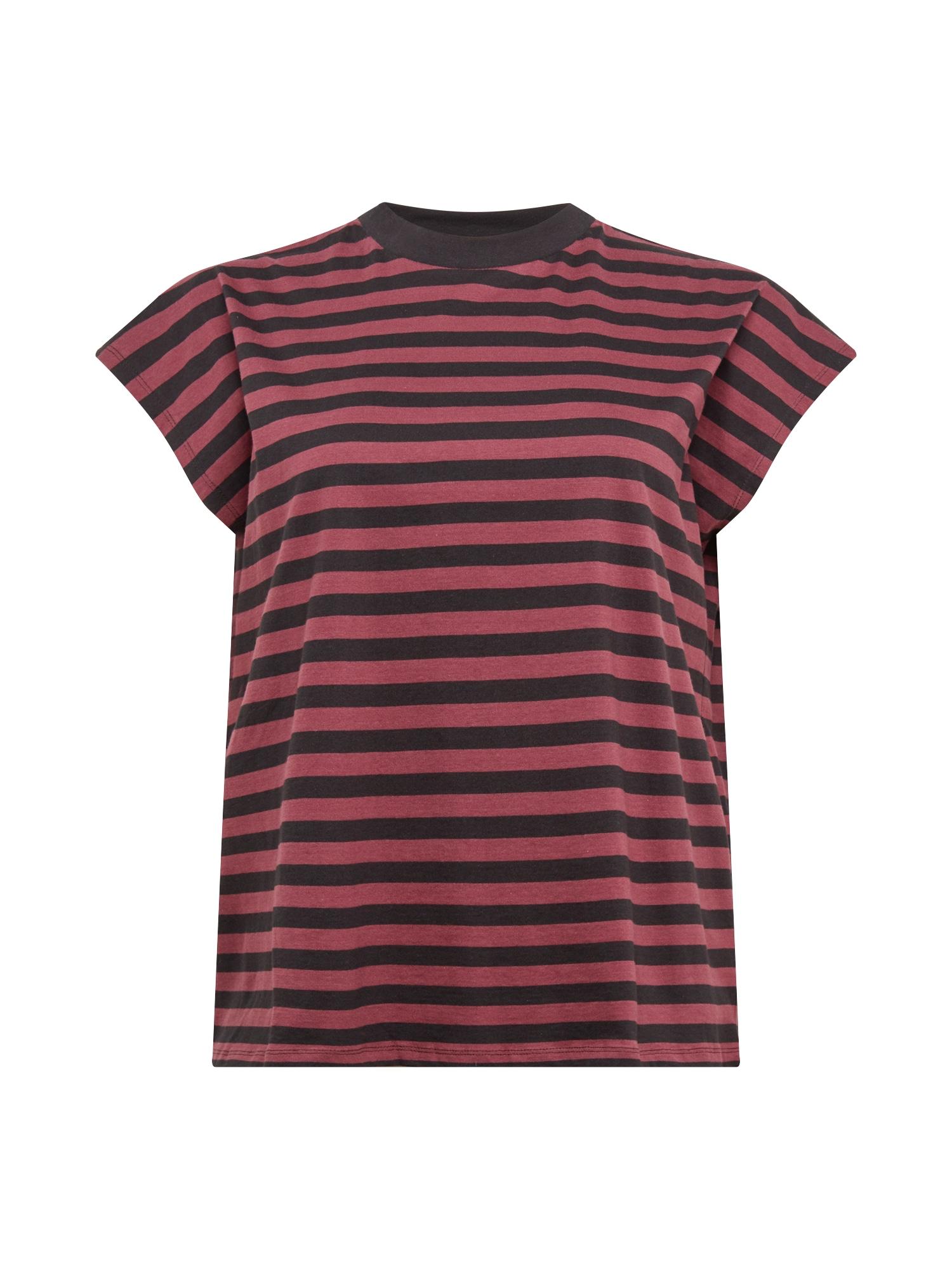 Urban Classics Curvy Marškinėliai juoda / uogų spalva