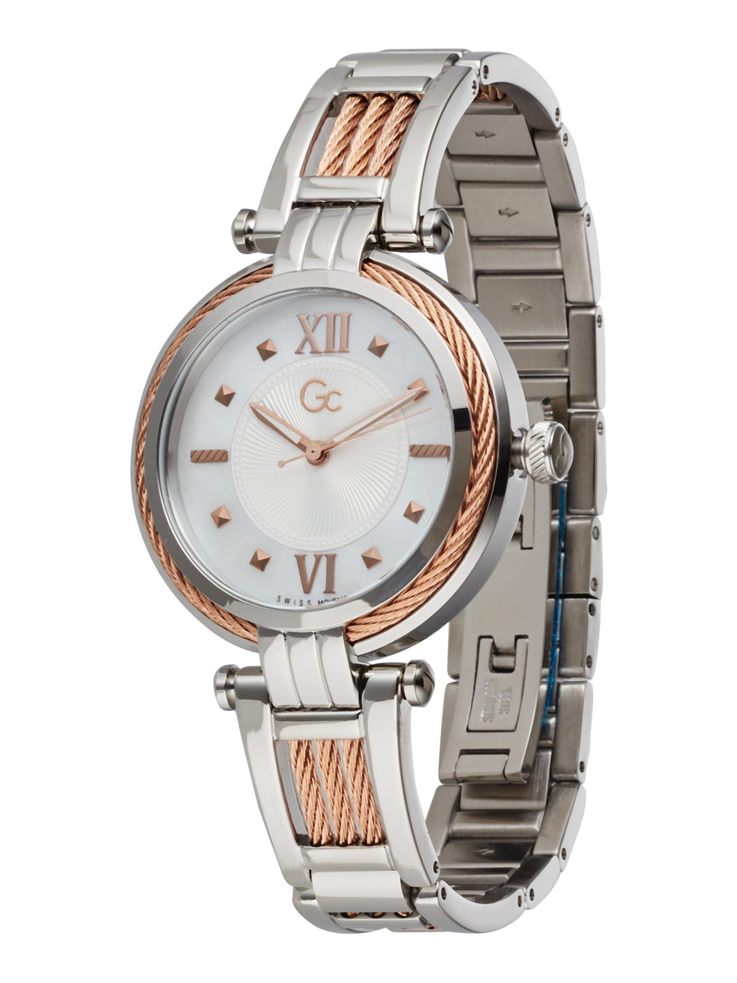 Gc Analoginis (įprasto dizaino) laikrodis sidabrinė / rožinio aukso spalva