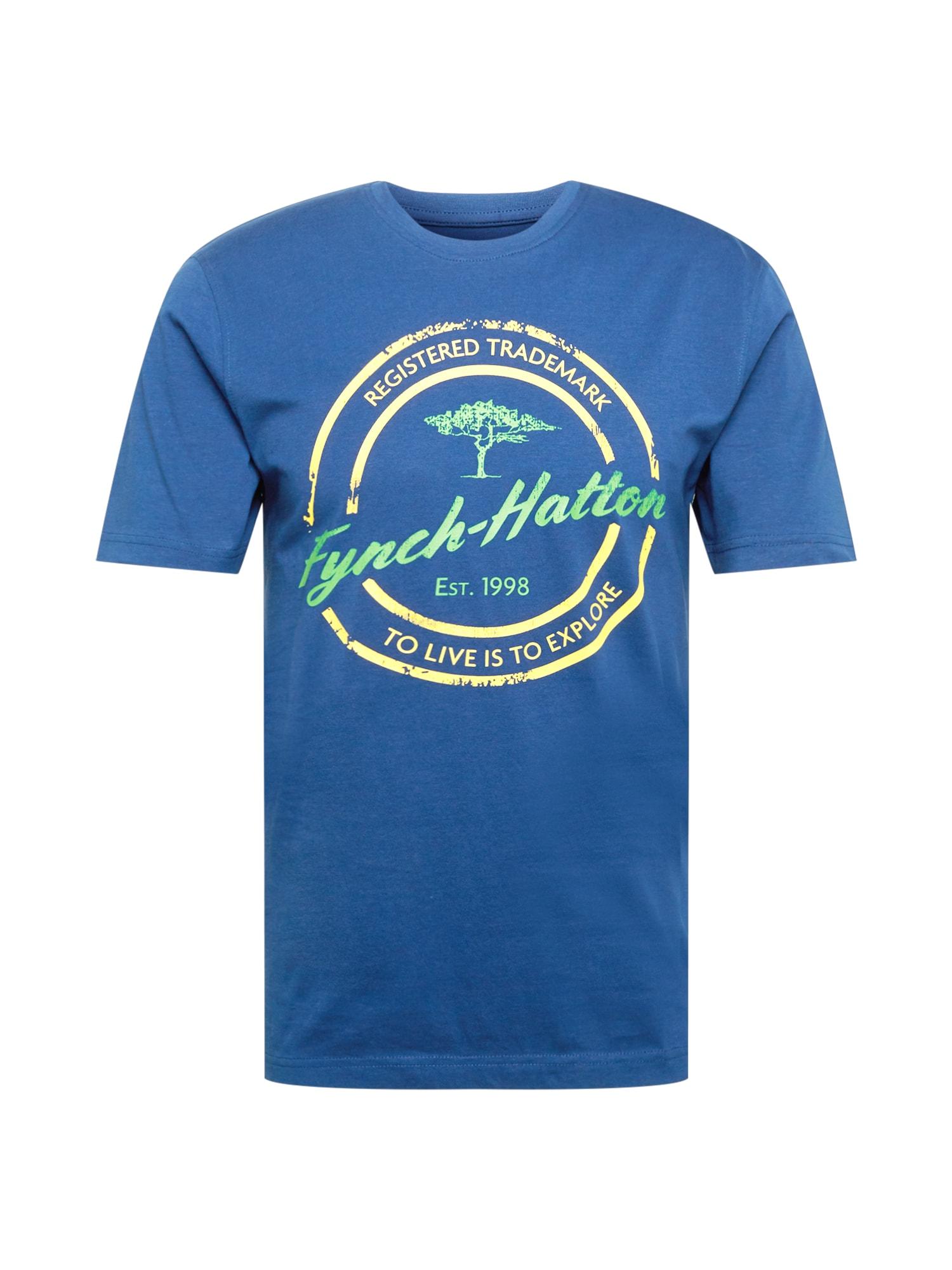 FYNCH-HATTON Marškinėliai dangaus žydra / šviesiai žalia / geltona