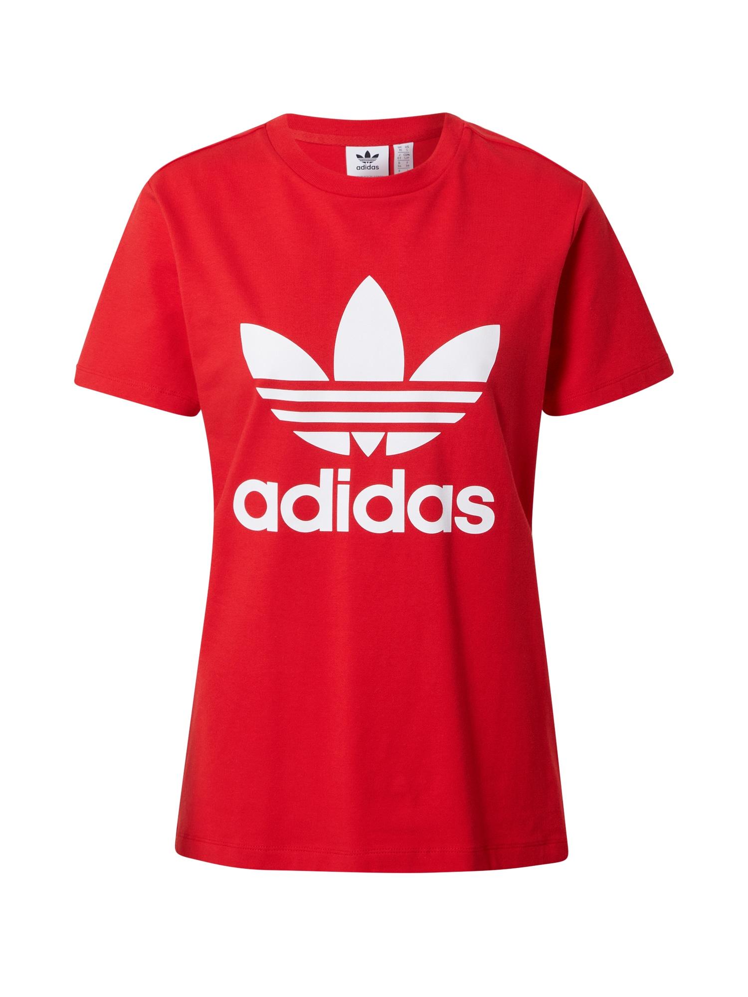 ADIDAS ORIGINALS Marškinėliai balta / raudona