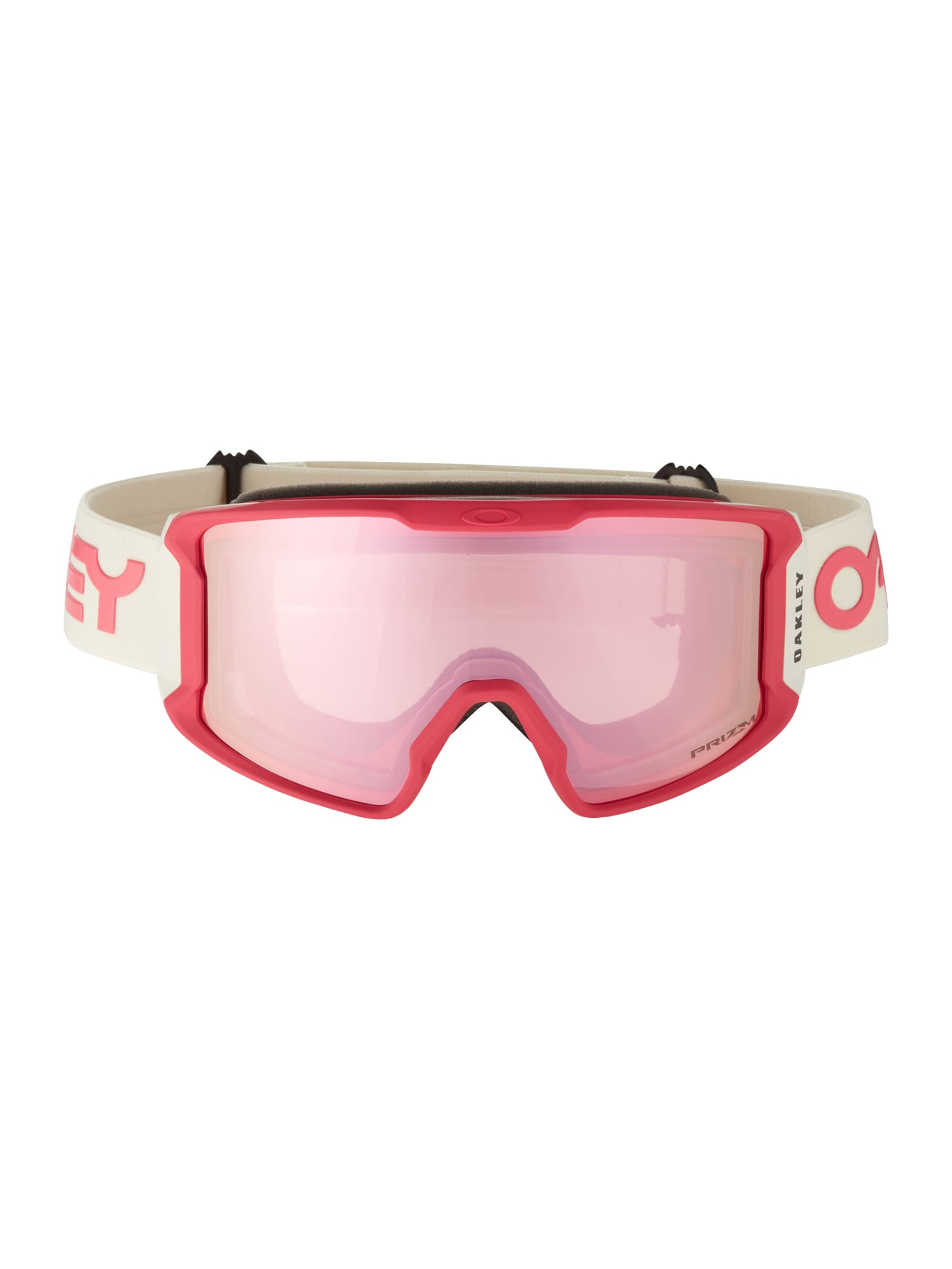 OAKLEY Sportiniai akiniai 'Line Miner' rožinė / rubinų raudona / balta