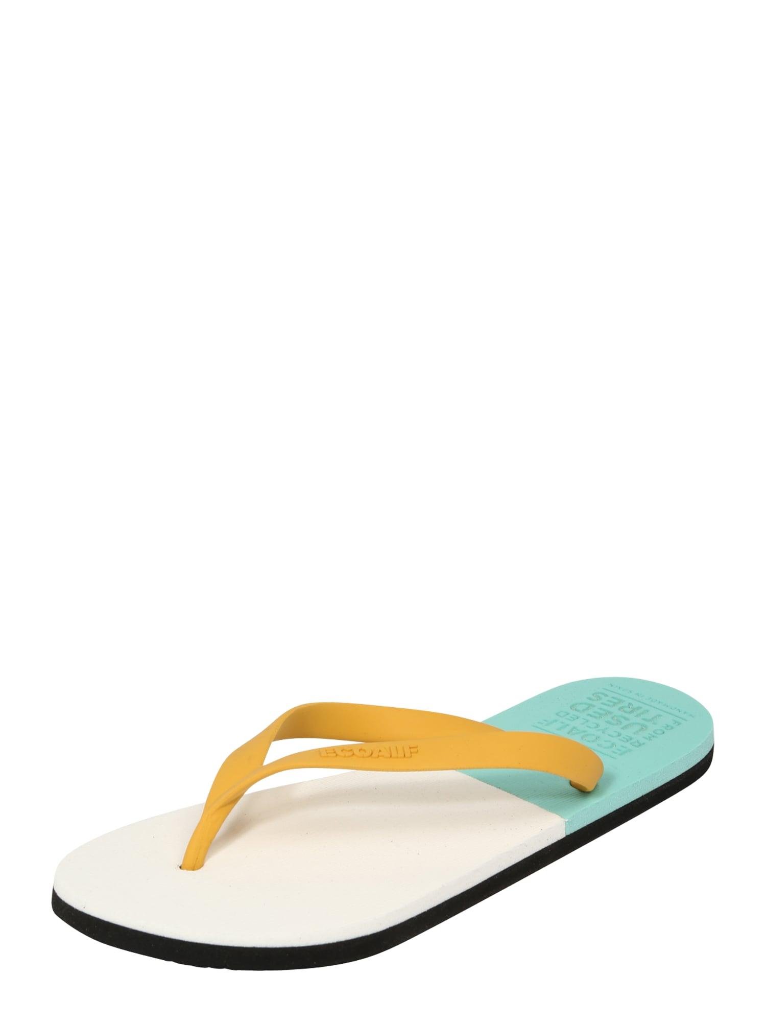 ECOALF Šlepetės per pirštą balkšva / nefrito spalva / geltona