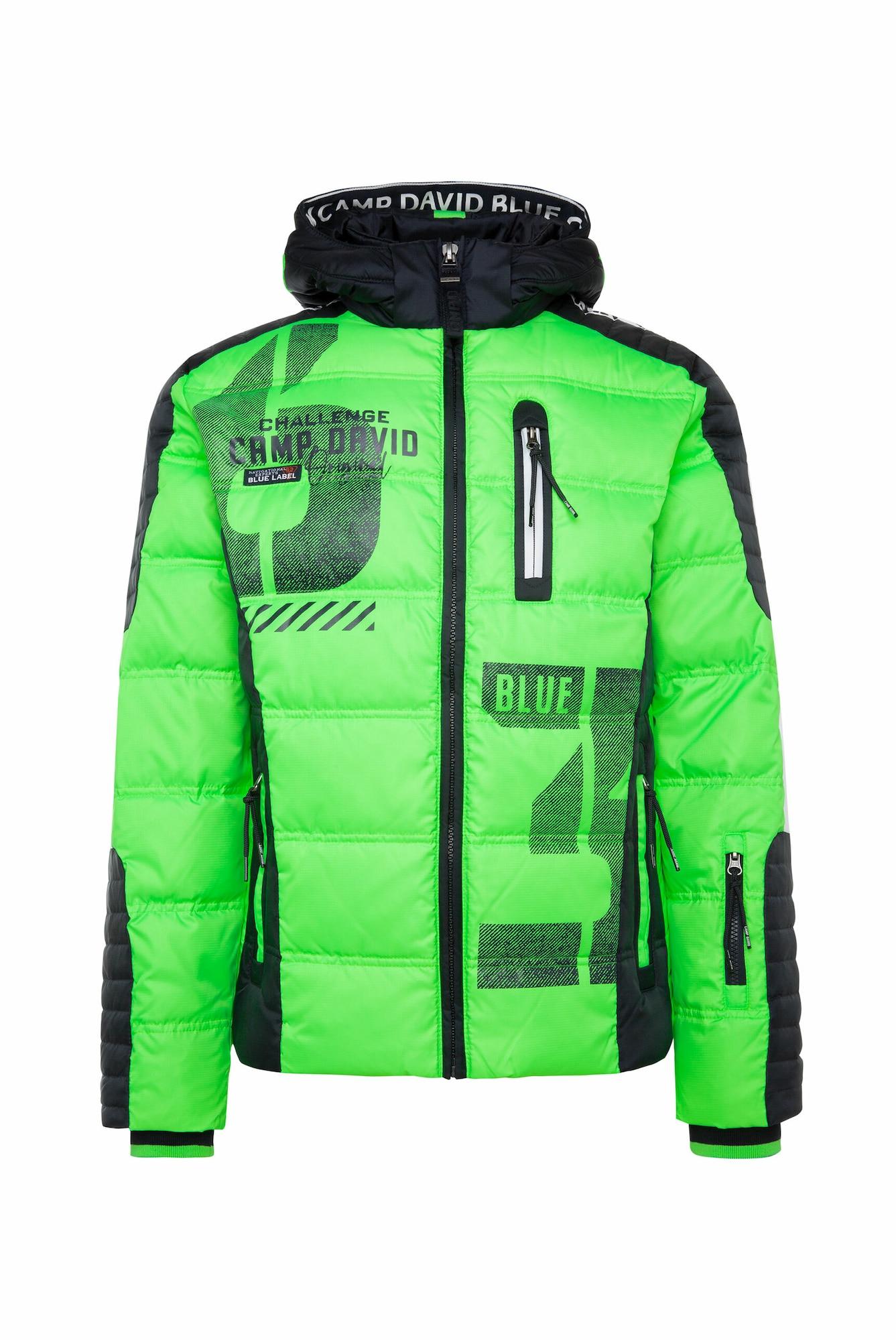CAMP DAVID Zimní bunda  zelená / mix barev