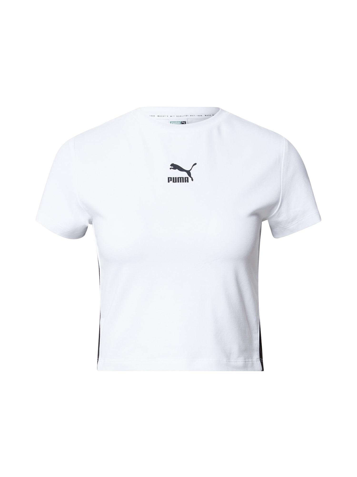 PUMA Tričko  bílá / černá