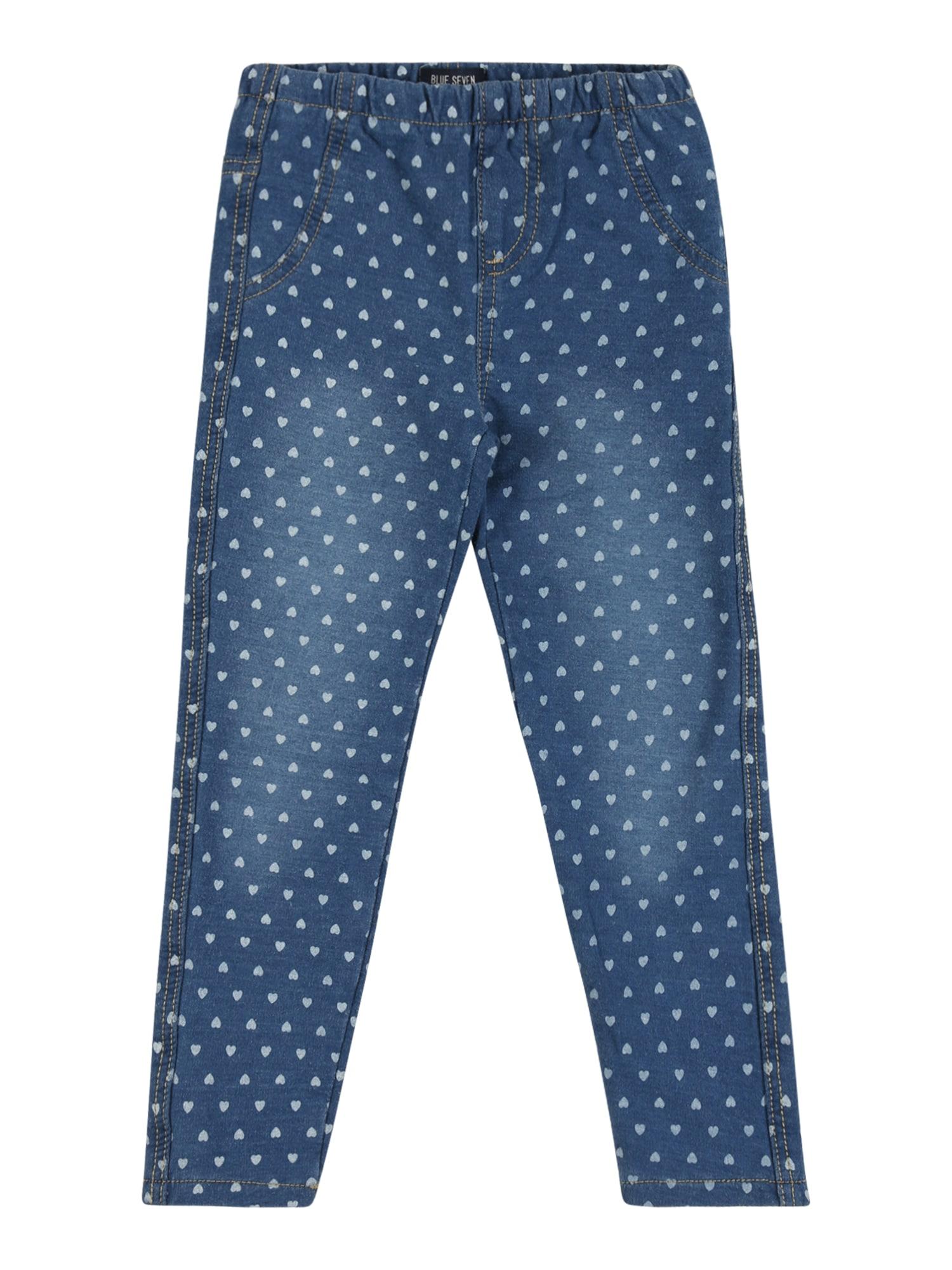 BLUE SEVEN Tamprės tamsiai (džinso) mėlyna / balta