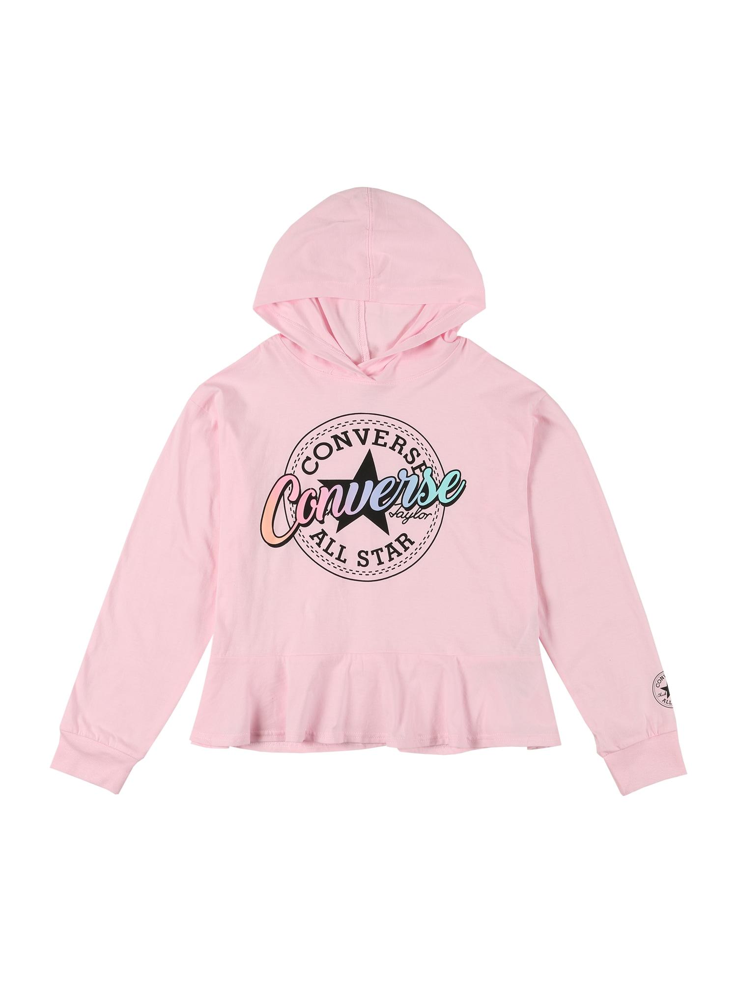 CONVERSE Megztinis be užsegimo 'PEPLUM' šviesiai rožinė / juoda / mišrios spalvos