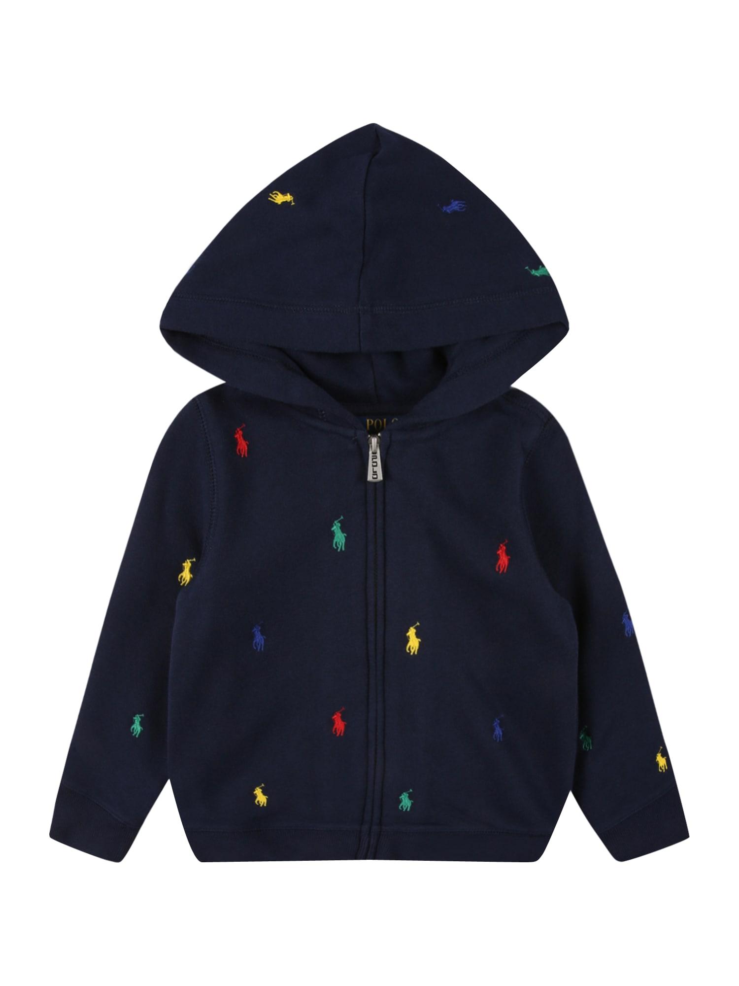 POLO RALPH LAUREN Džemperis tamsiai mėlyna / geltona / žalia / raudona / tamsiai mėlyna jūros spalva