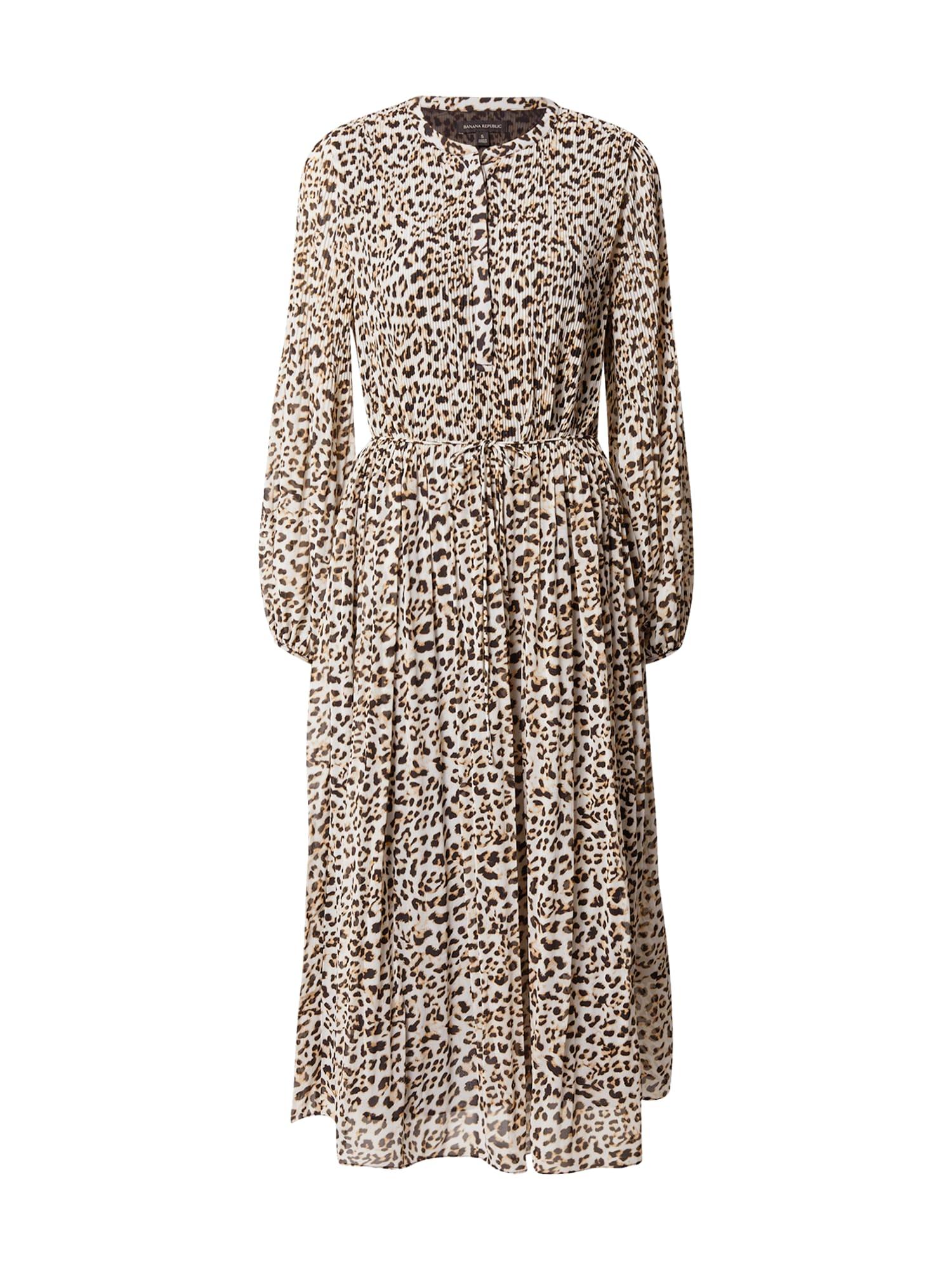 Banana Republic Palaidinės tipo suknelė ruda / balta / juoda