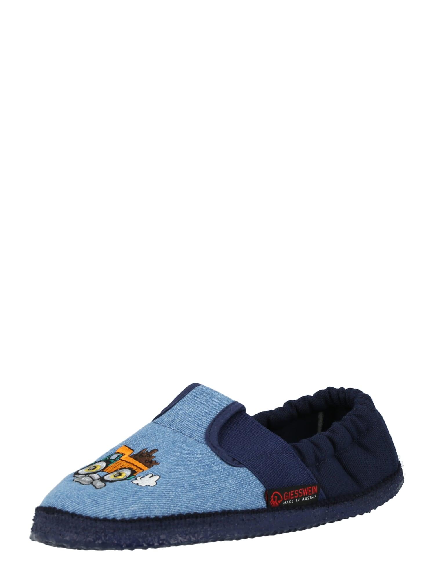 GIESSWEIN Pantofle 'Arbach'  modrá džínovina / marine modrá / jasně oranžová