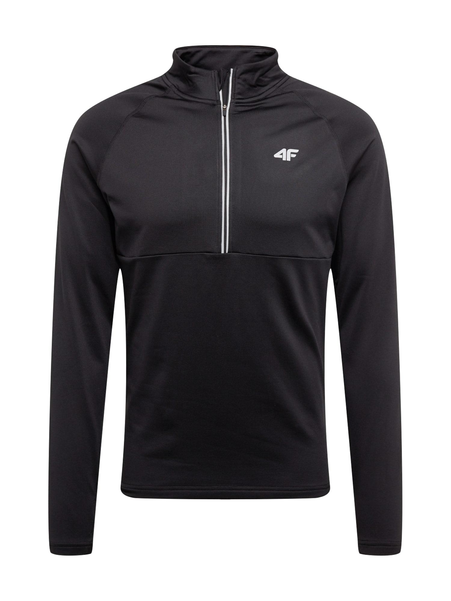 4F Sportinio tipo megztinis juoda / balta