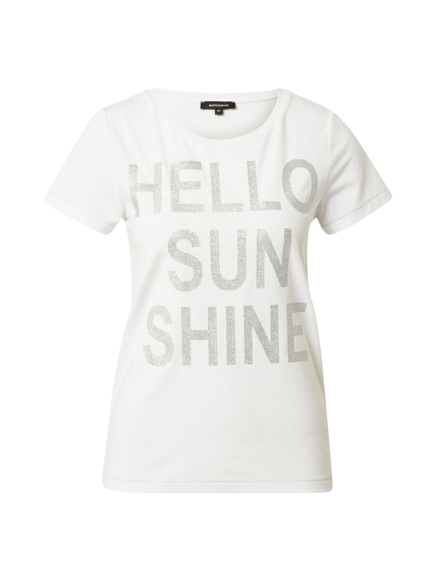 MORE & MORE Marškinėliai balta / sidabrinė