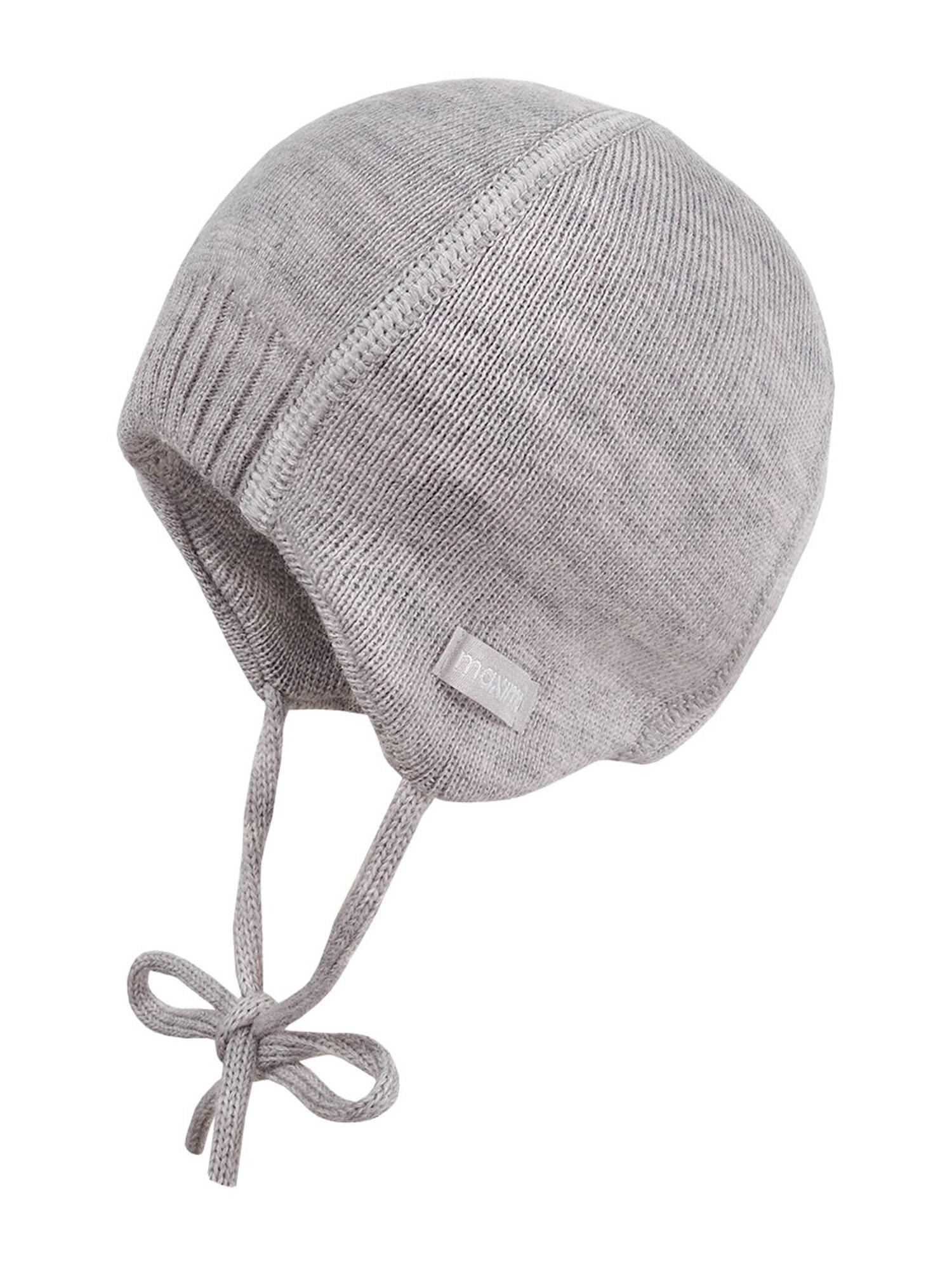 MAXIMO Megzta kepurė 'MARIS' margai pilka / tamsiai pilka