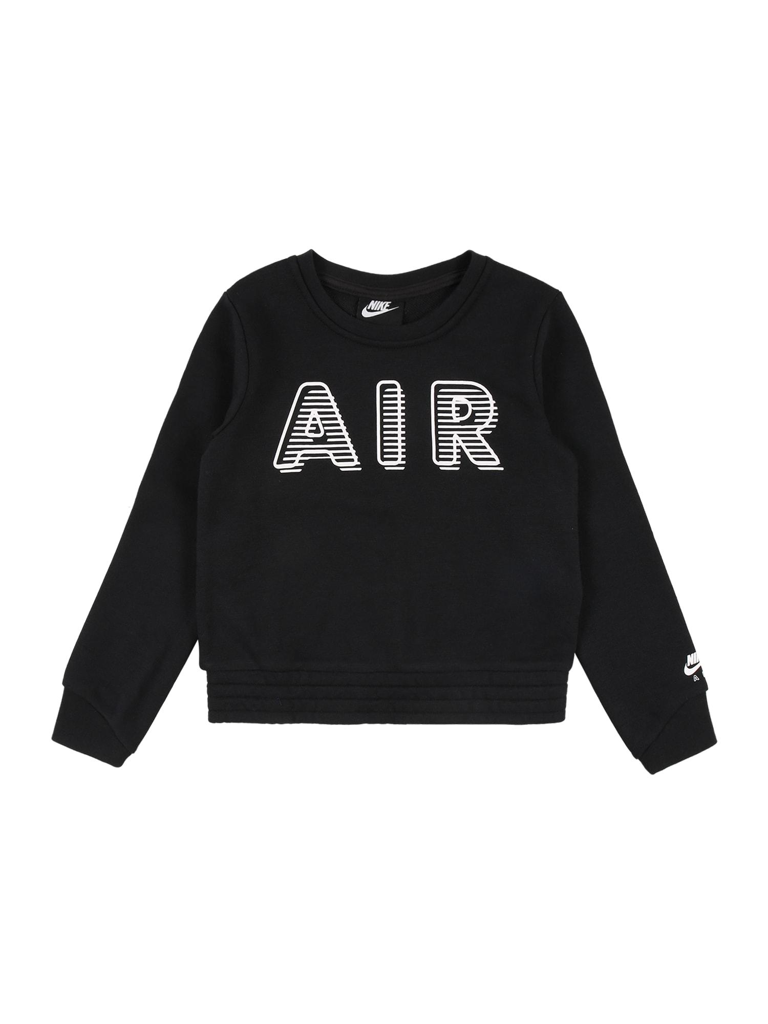 Nike Sportswear Mikina  černá / bílá