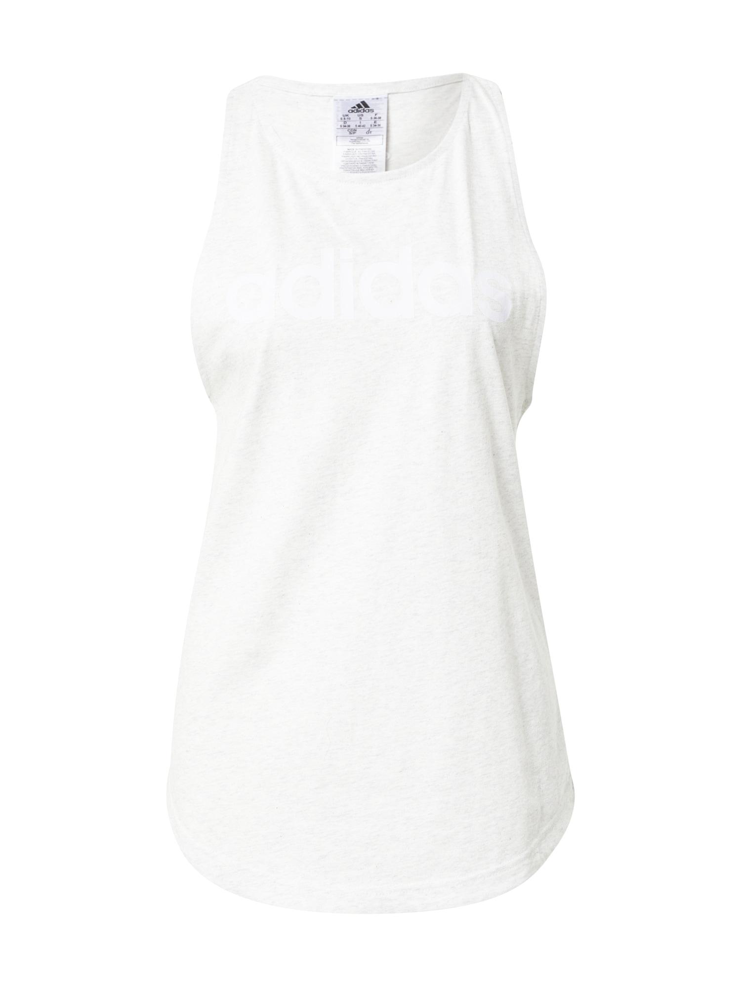 ADIDAS PERFORMANCE Sportovní top  offwhite / bílý melír