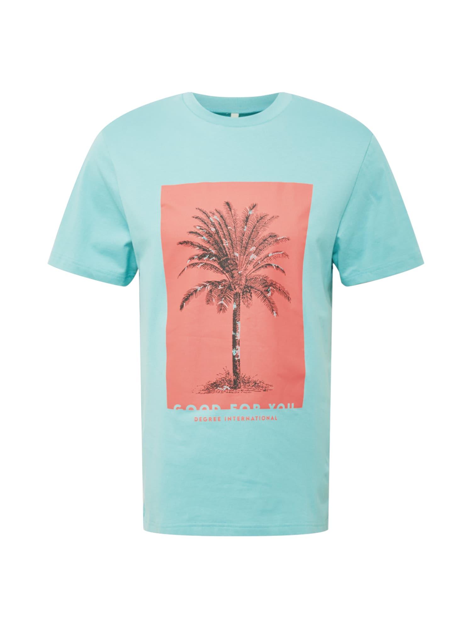 Degree Marškinėliai šviesiai mėlyna / koralų splava / juoda