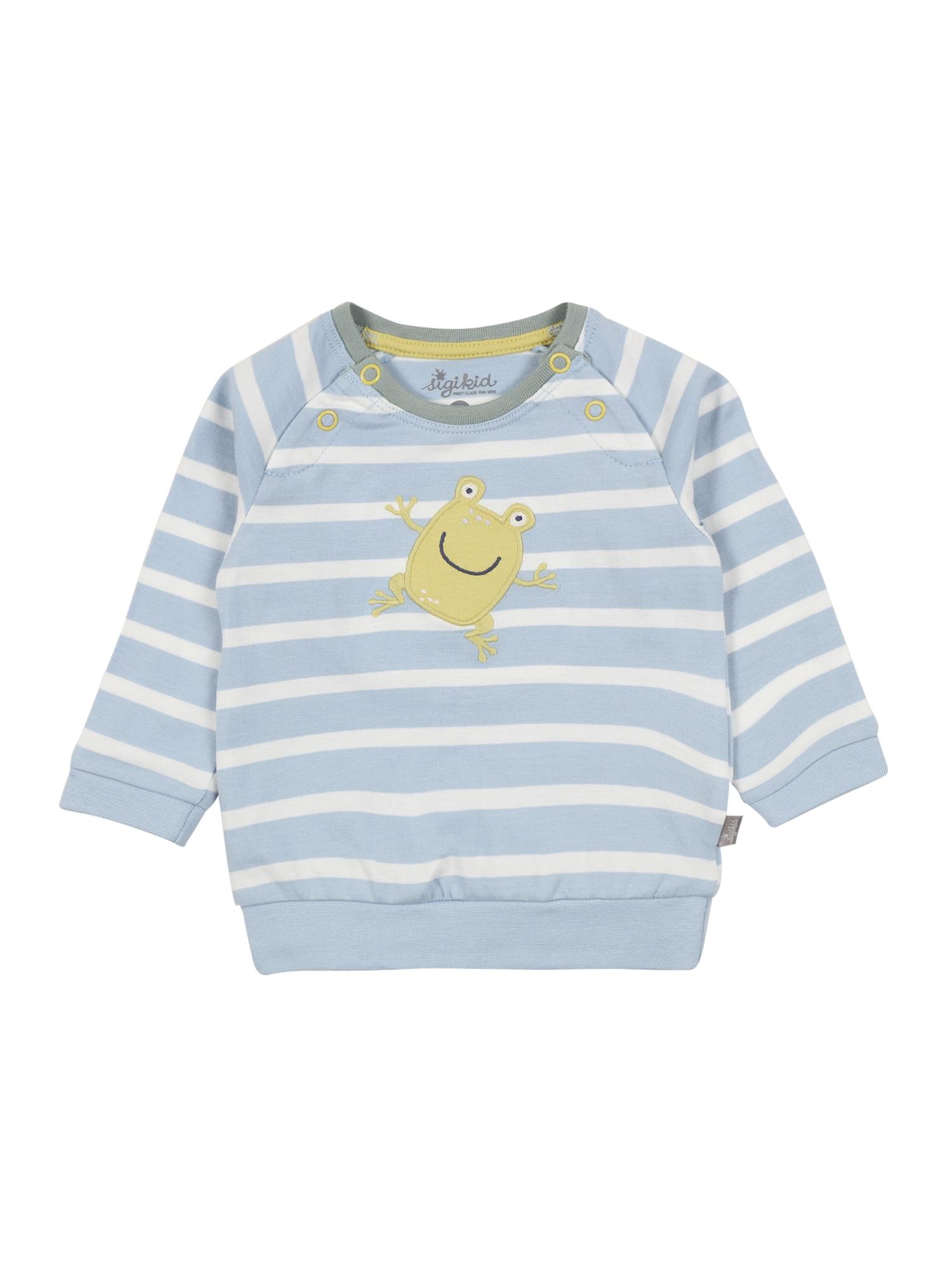SIGIKID Megztinis be užsegimo opalo / balta / garstyčių spalva