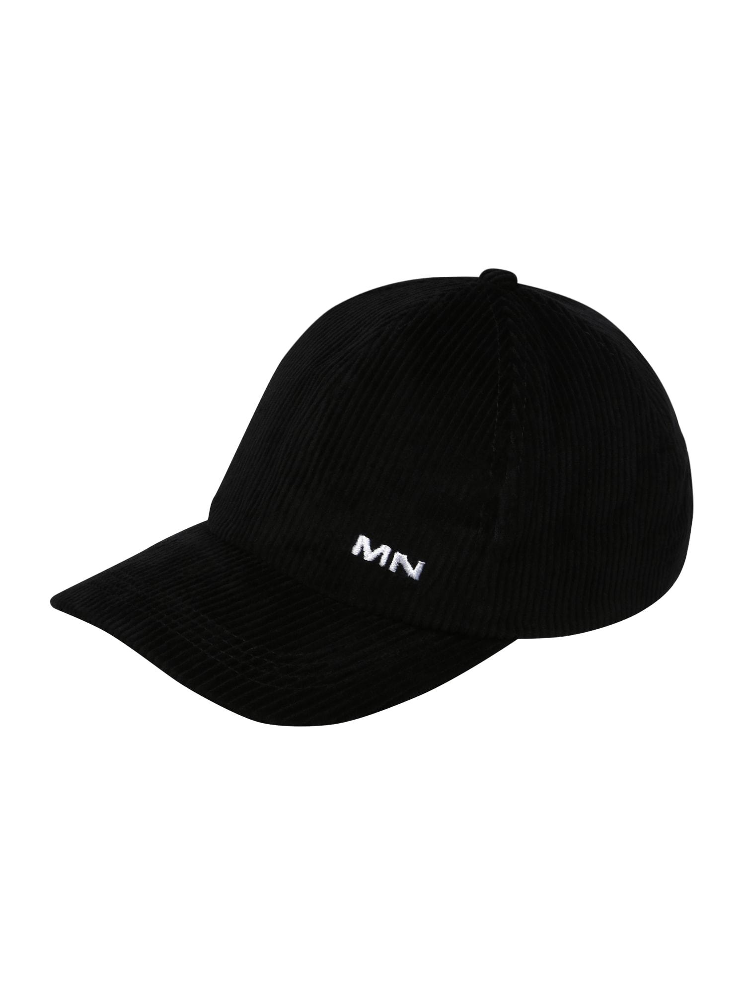 Mennace Kepurė juoda / balta