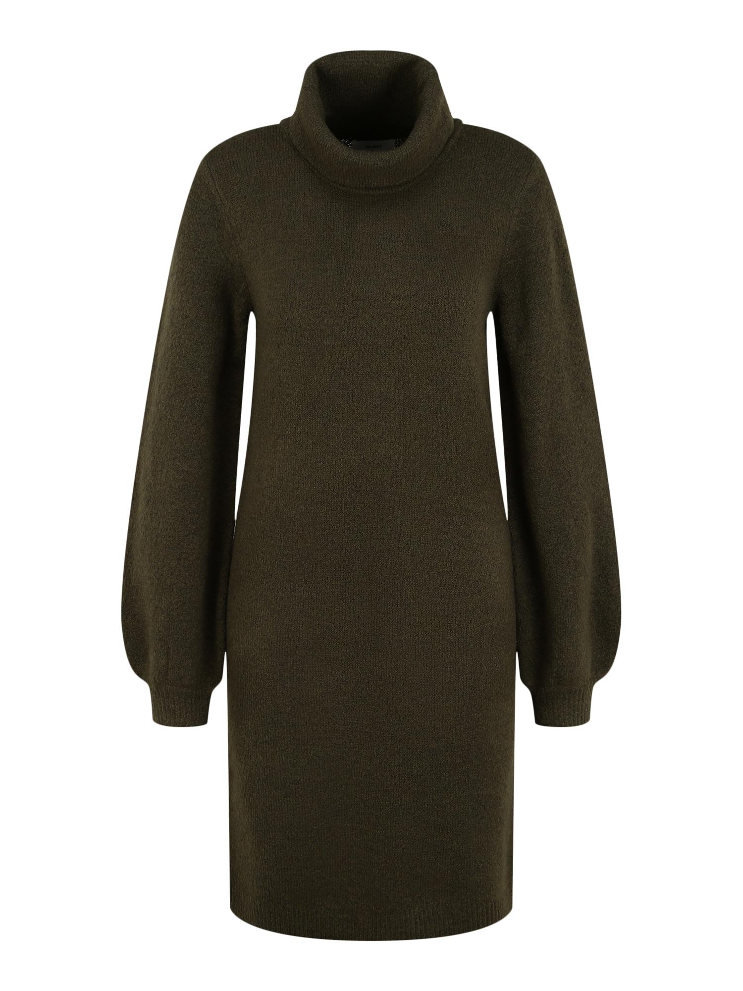 OBJECT (Tall) Úpletové šaty 'Eve Nonsia'  tmavě zelená