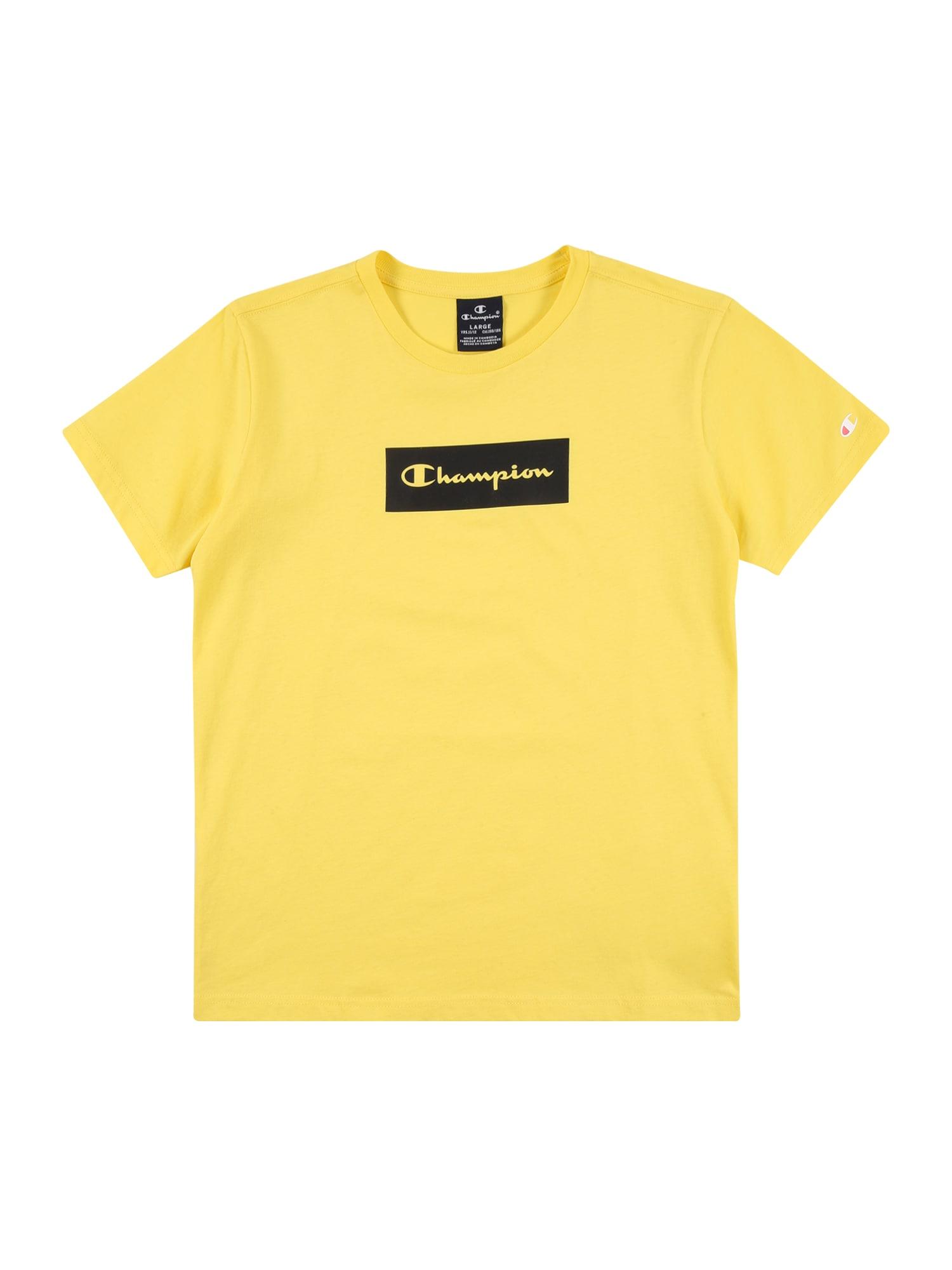 Champion Authentic Athletic Apparel Marškinėliai geltona / juoda / balta