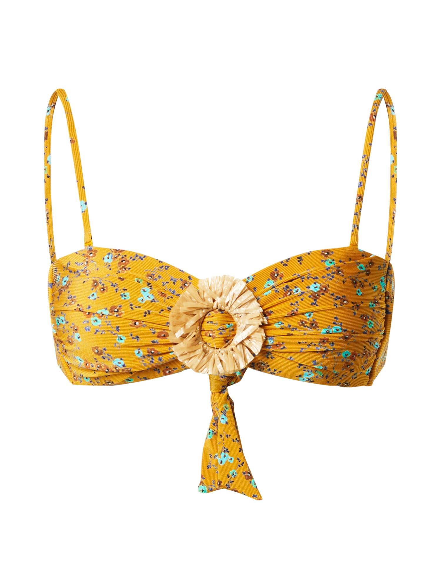 watercult Bikinio viršutinė dalis aukso geltonumo spalva / mišrios spalvos