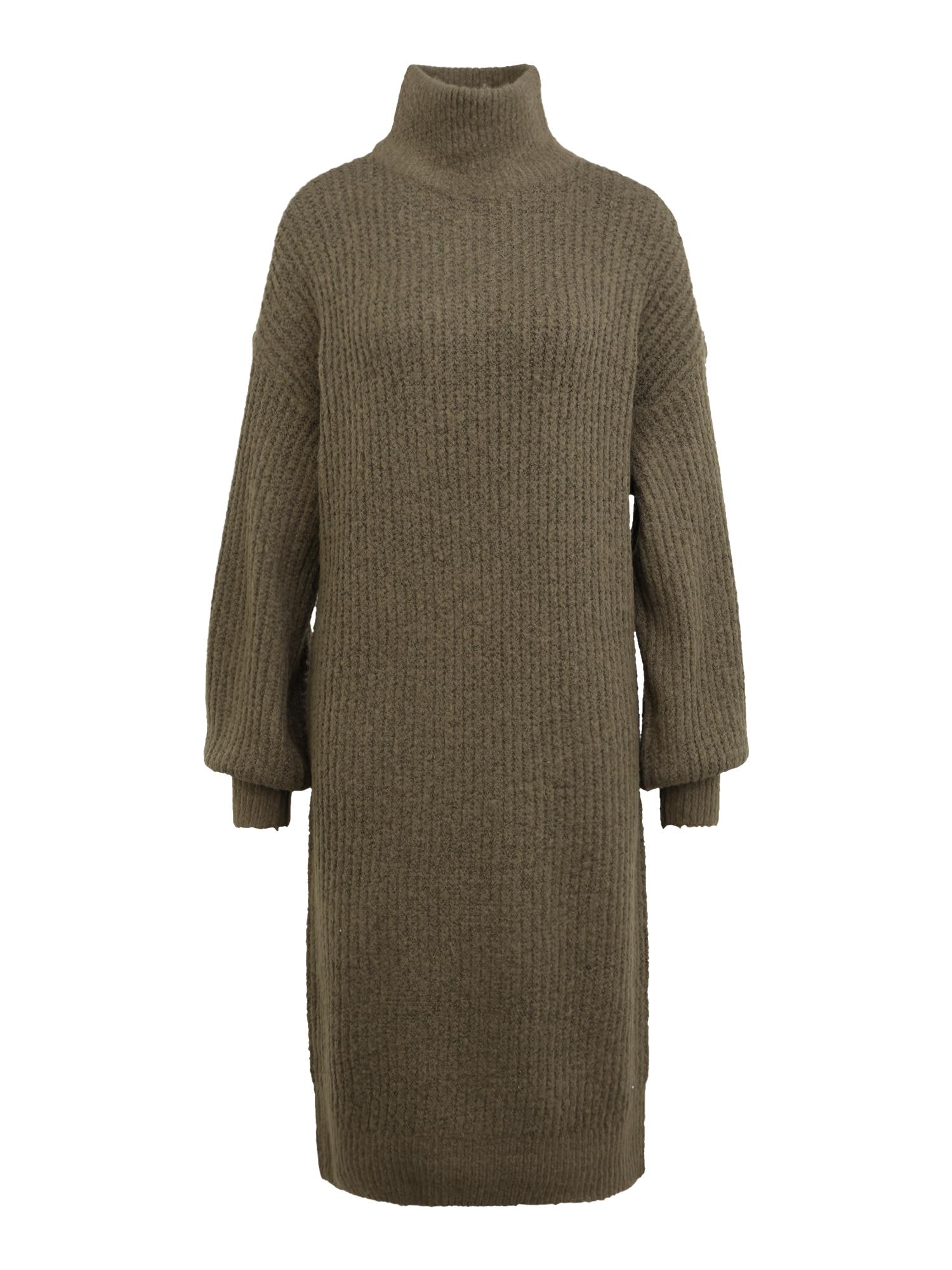 Noisy May Tall Úpletové šaty 'ROBINA'  khaki