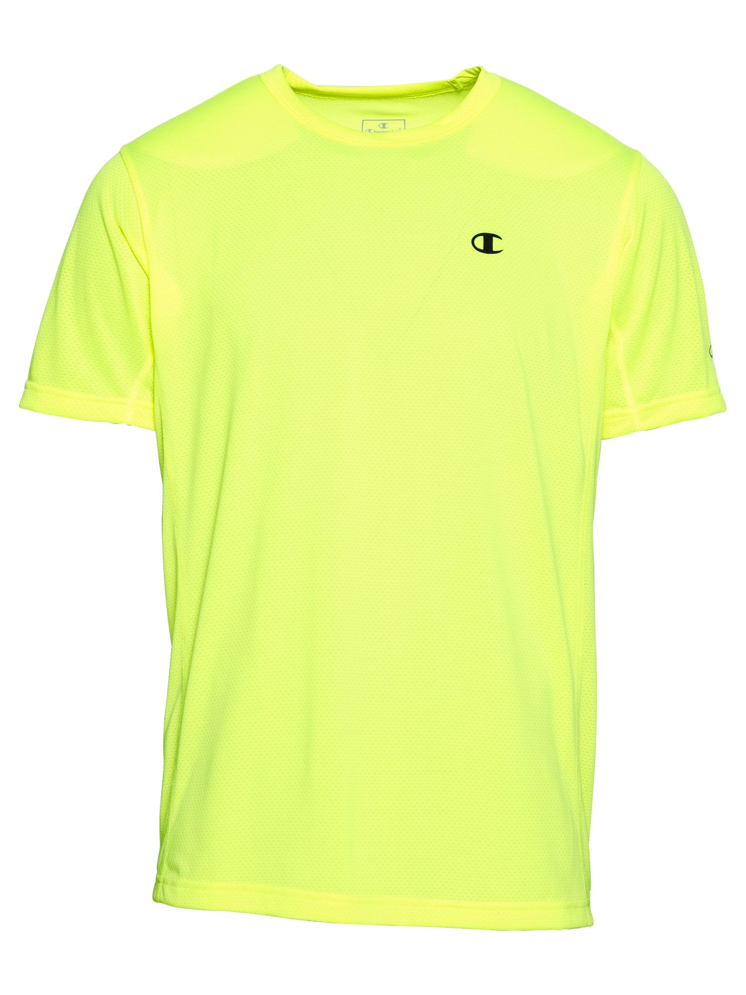 Champion Authentic Athletic Apparel Sportiniai marškinėliai neoninė geltona / juoda