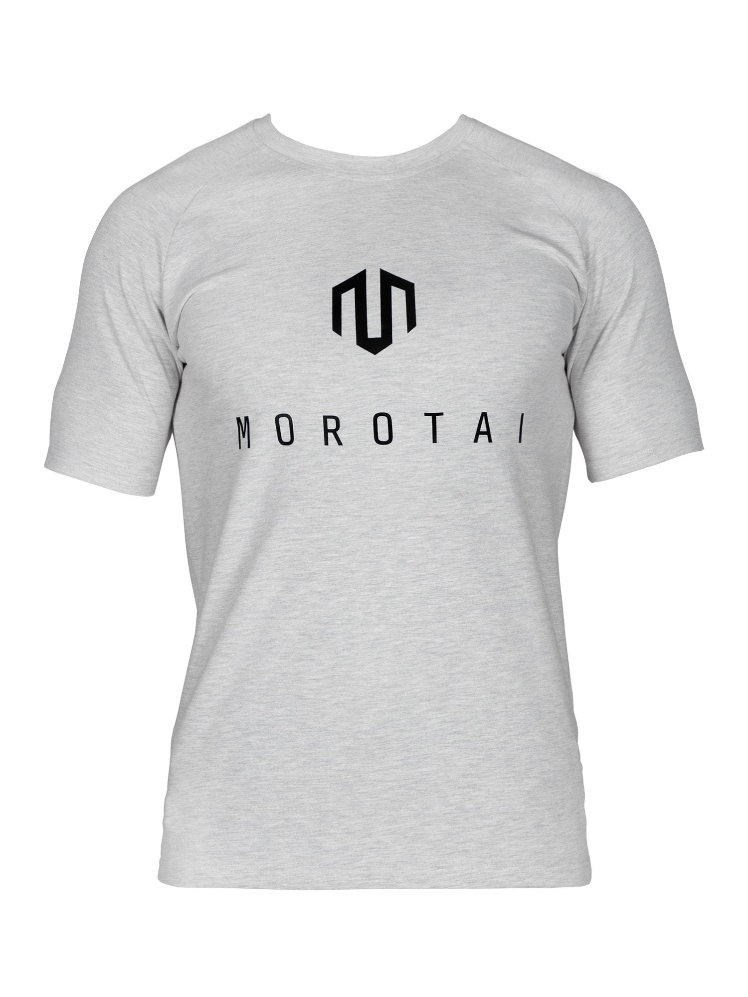 MOROTAI Sportiniai marškinėliai šviesiai pilka / juoda